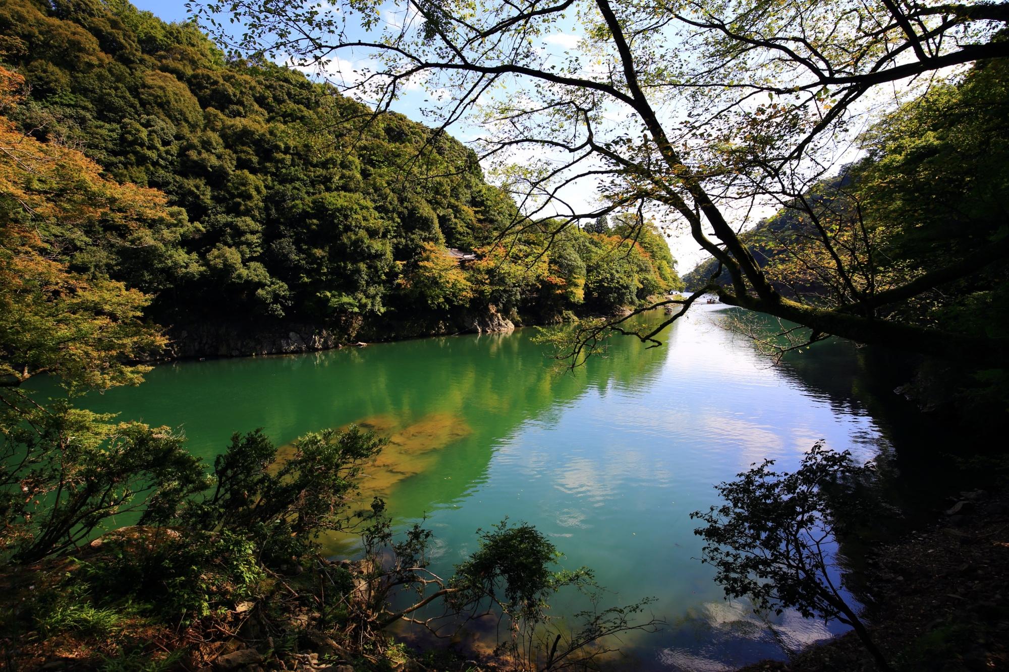 嵐山の保津川(桂川) 2015年10月6日