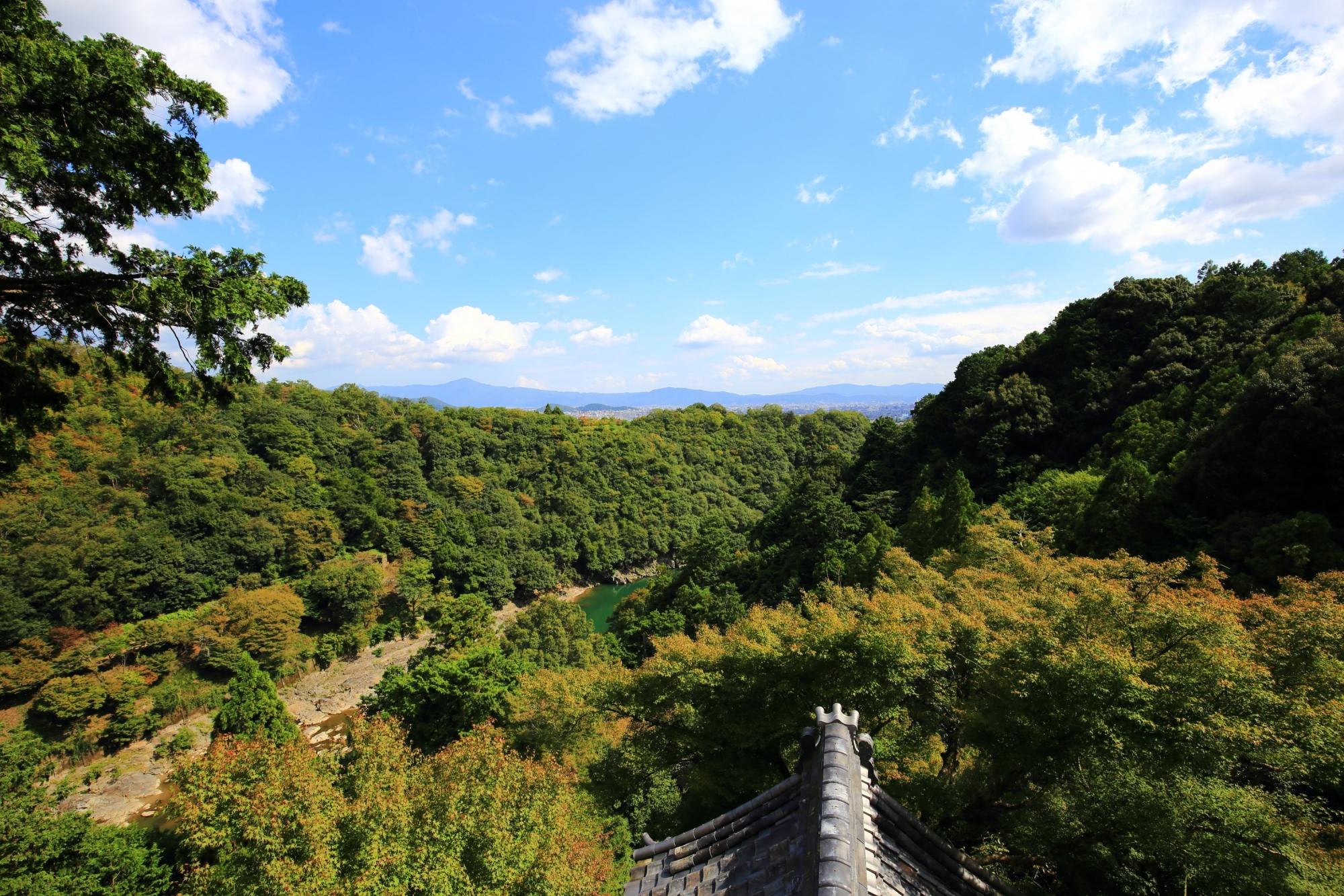 大悲閣 千光寺 嵐山の秘境 自然と青もみじの絶景