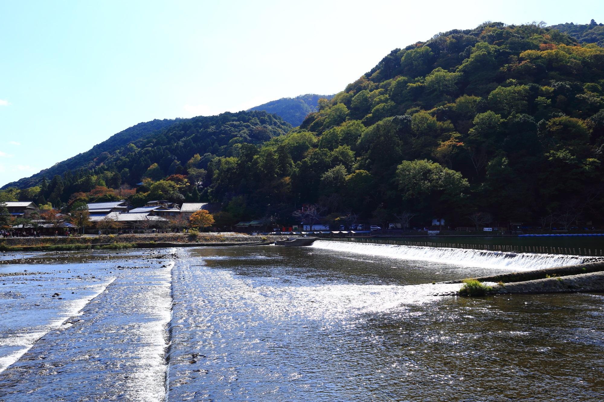 桂川(保津川)と嵐山
