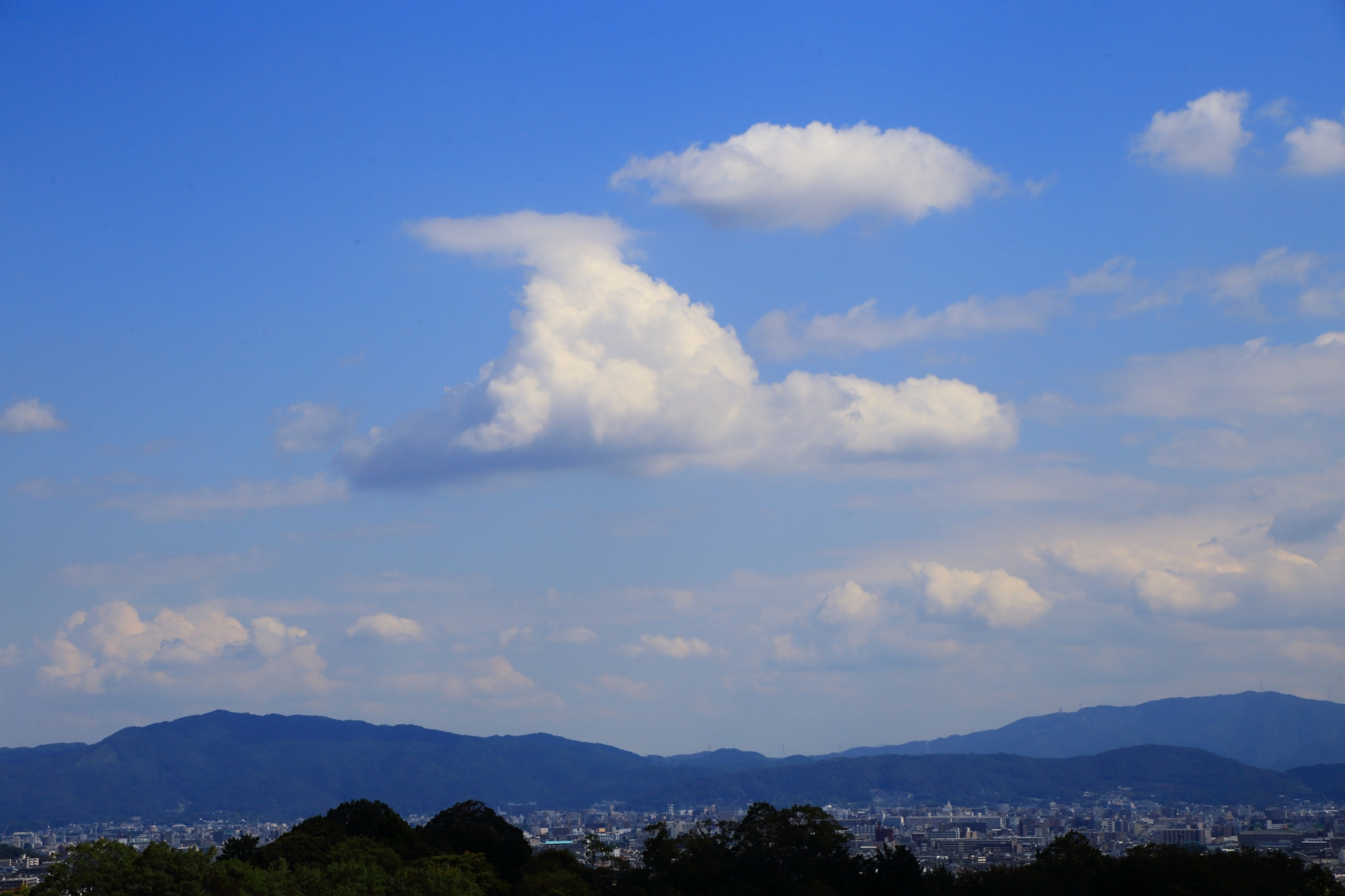 嵐山の秘境の大悲閣 千光寺から眺める絶景の空