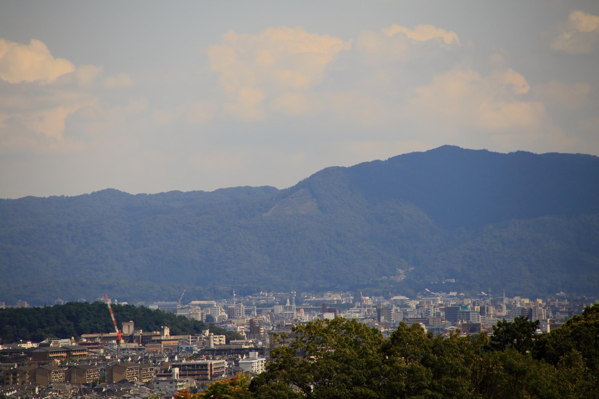 嵐山大悲閣 千光寺から眺める大文字山