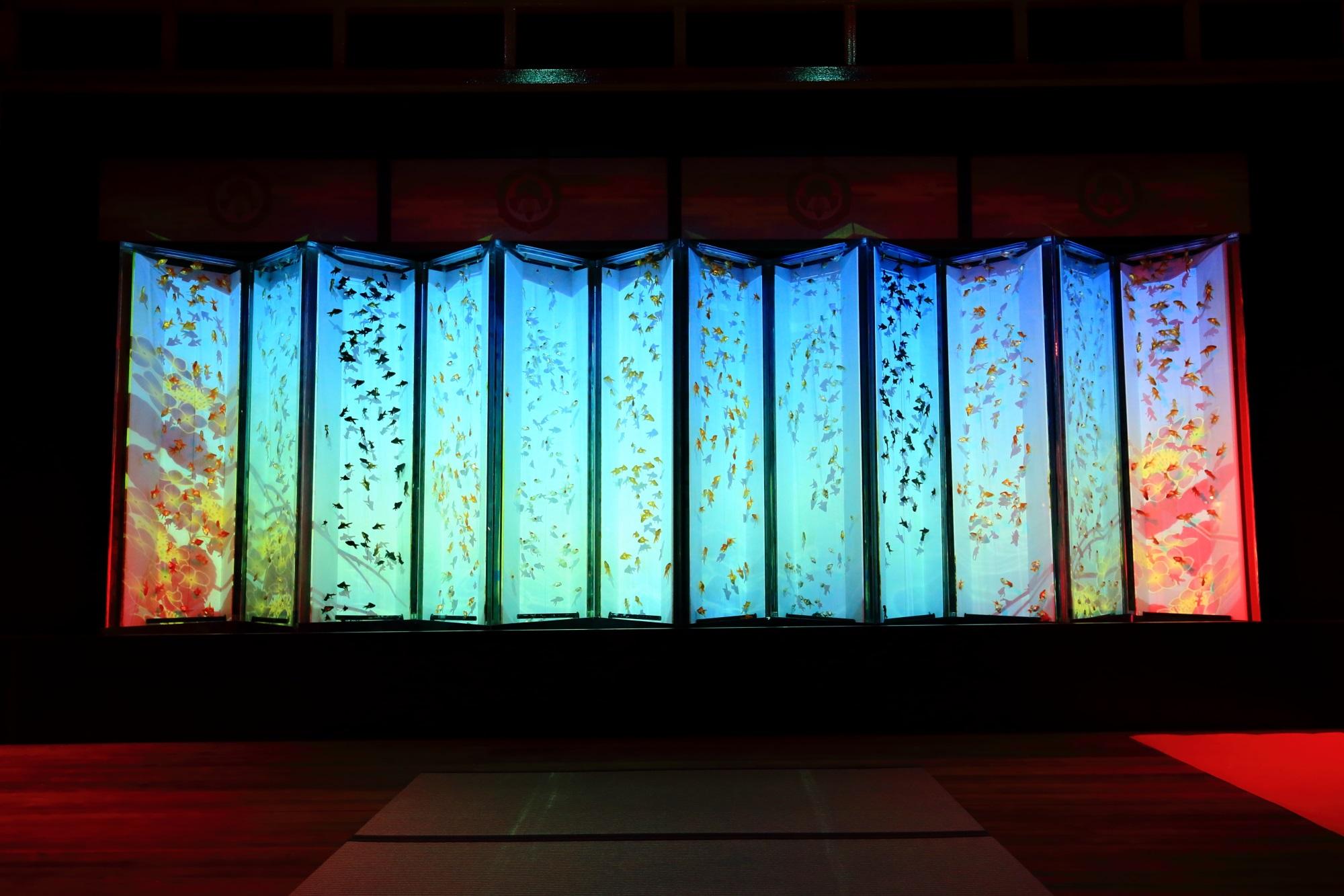 artaquarium-jo Nijo-jo Castle Kyoto 二条城 アートアクアリウム城 ビョウブリウムⅡ