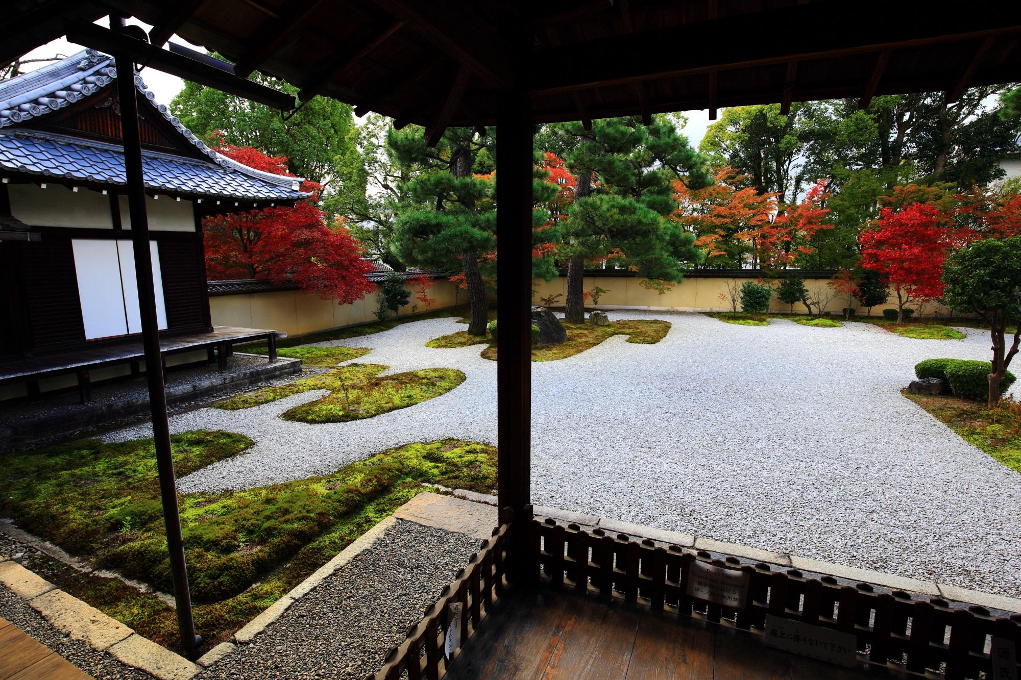 紫式部ゆかりの廬山寺の源氏庭の美しい紅葉
