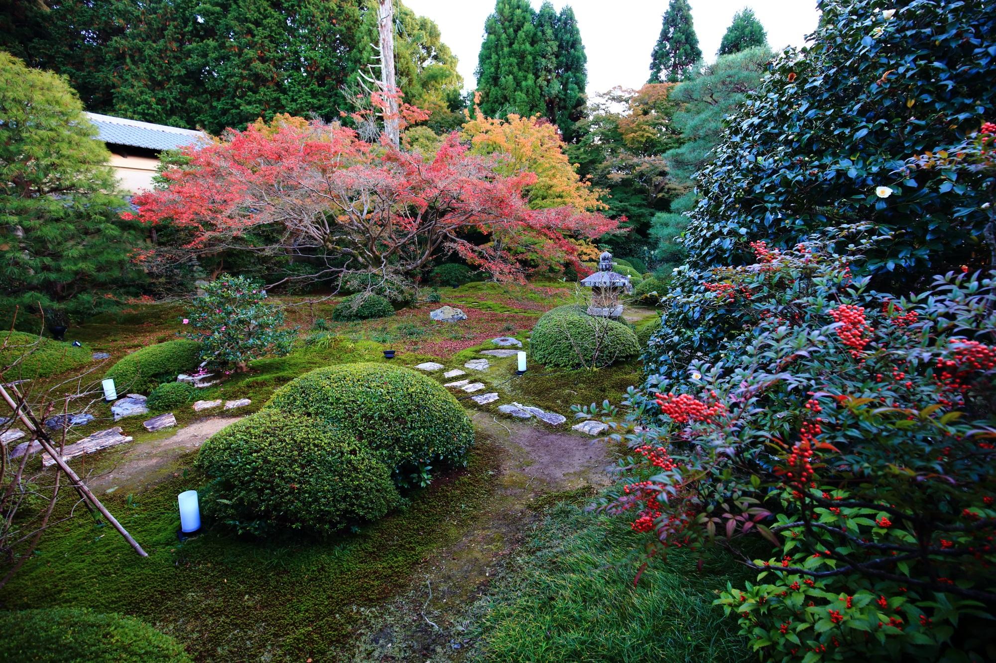 泉涌寺別院の雲龍院の庭園と紅葉 2015年11月