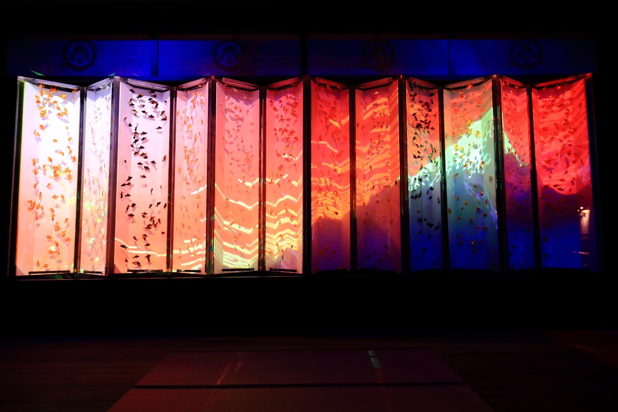 ビョウブリウム 金魚の舞 アートアクアリム城 二条城