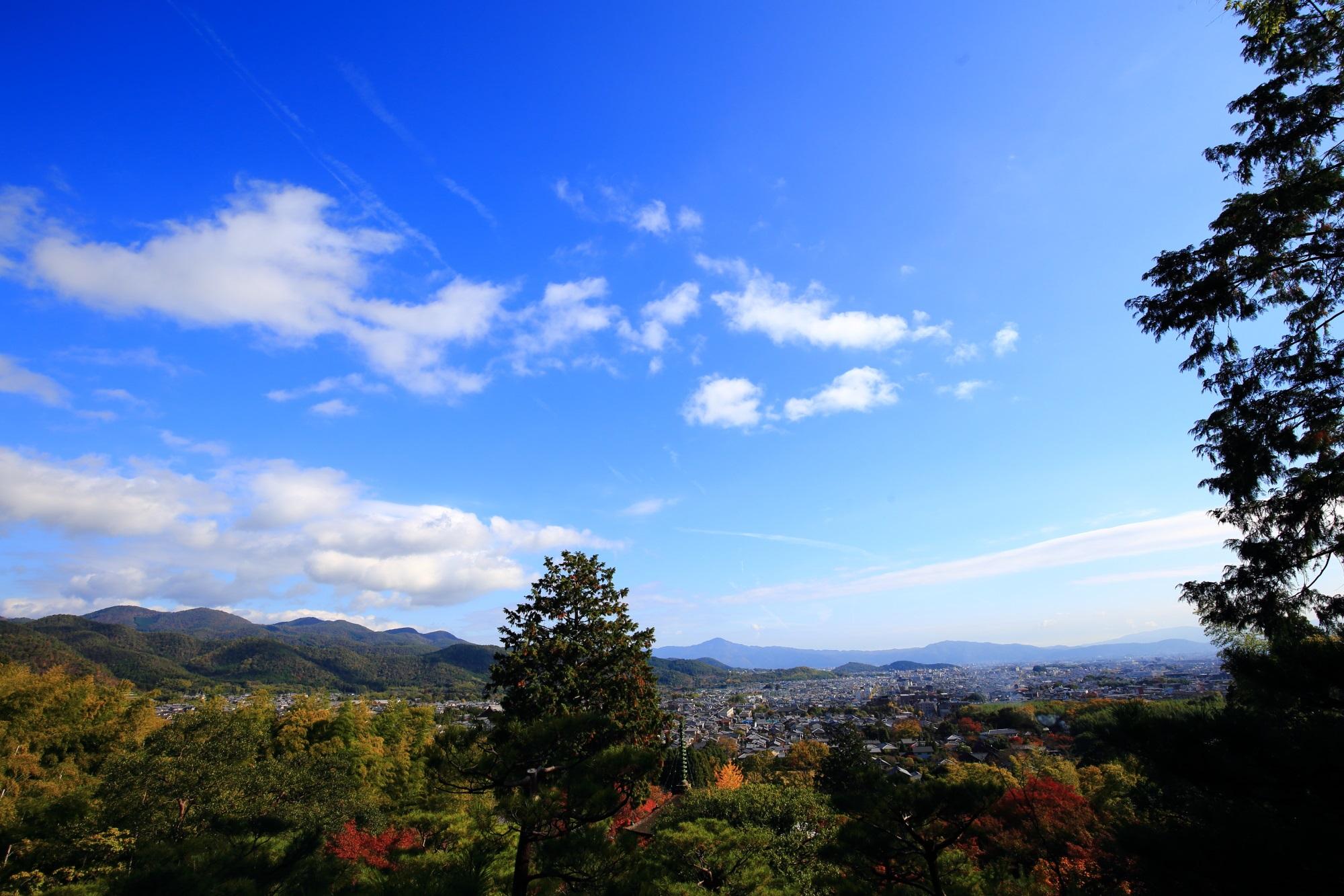 常寂光寺の小倉展望と京都市内