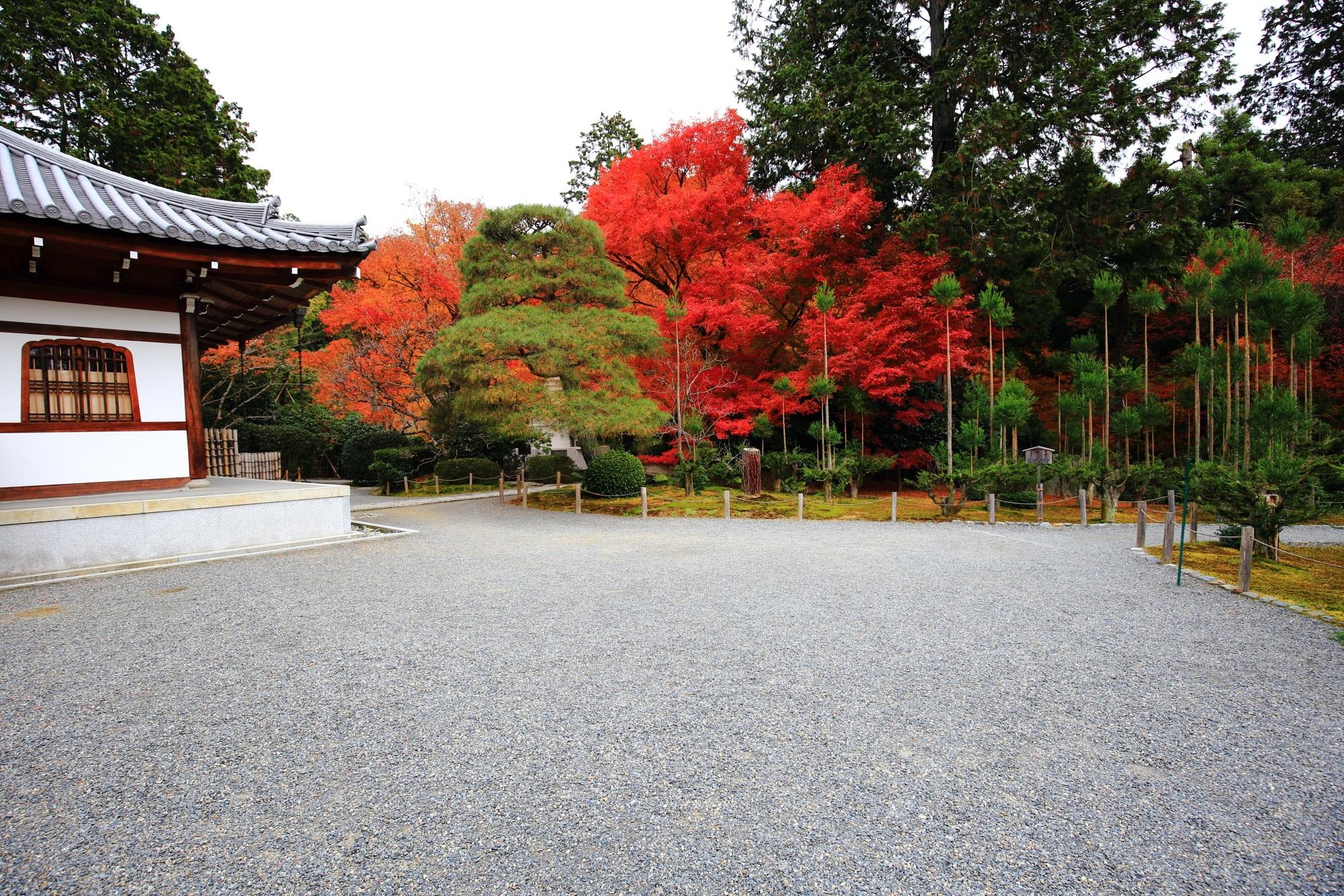 納骨堂と周辺の紅葉