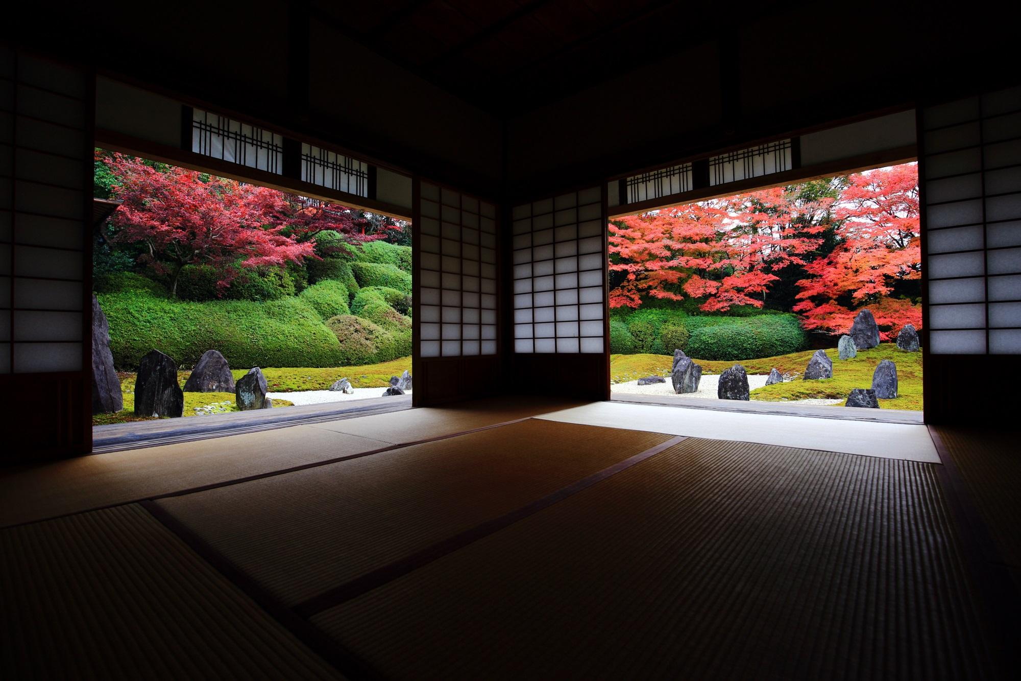 東福寺 光明院 紅葉 日本庭園の絶品の紅葉