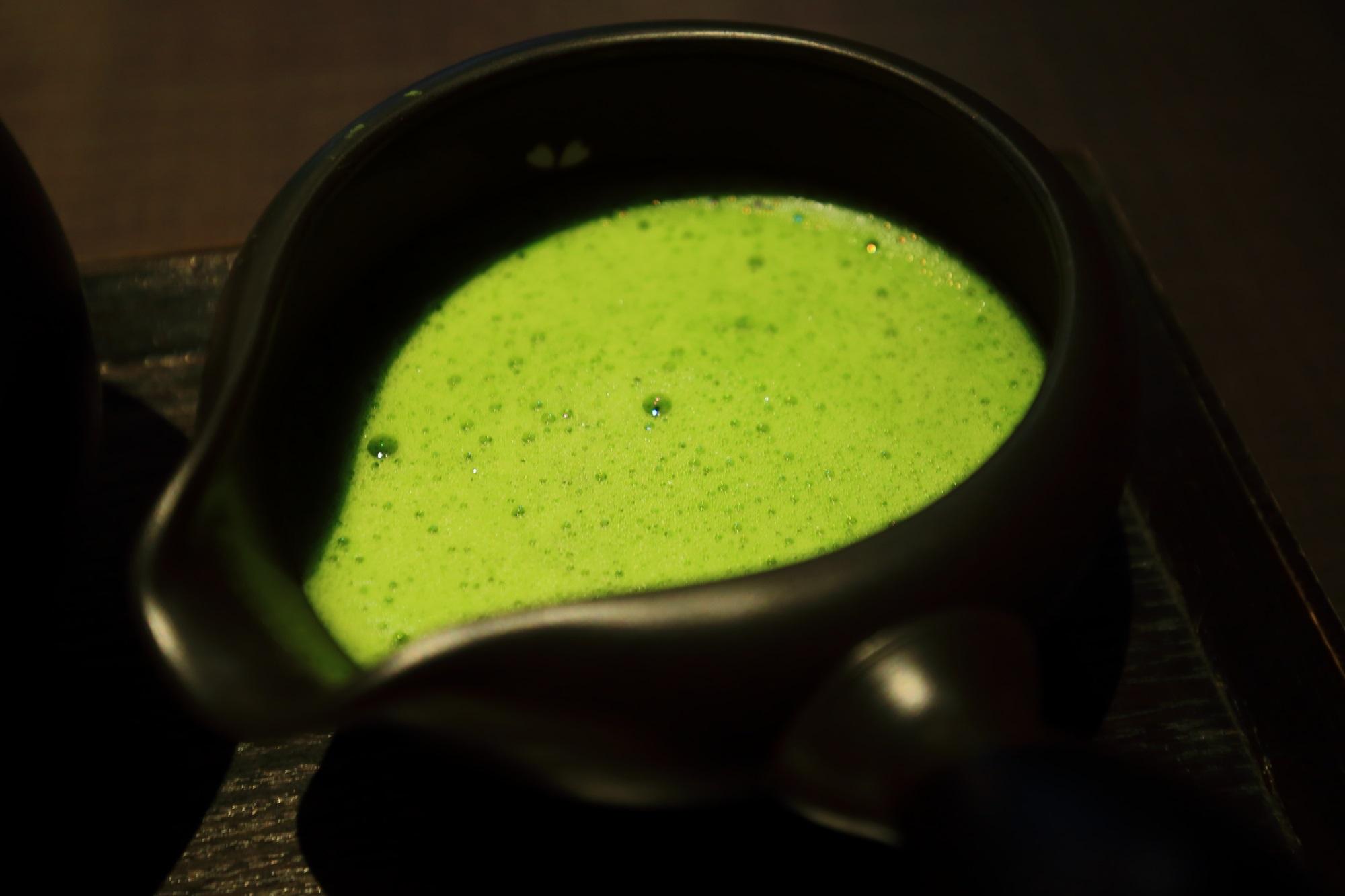 栗抹茶ぜんざい お抹茶 人気 甘味処 茶寮翠泉 さりょうすいせん