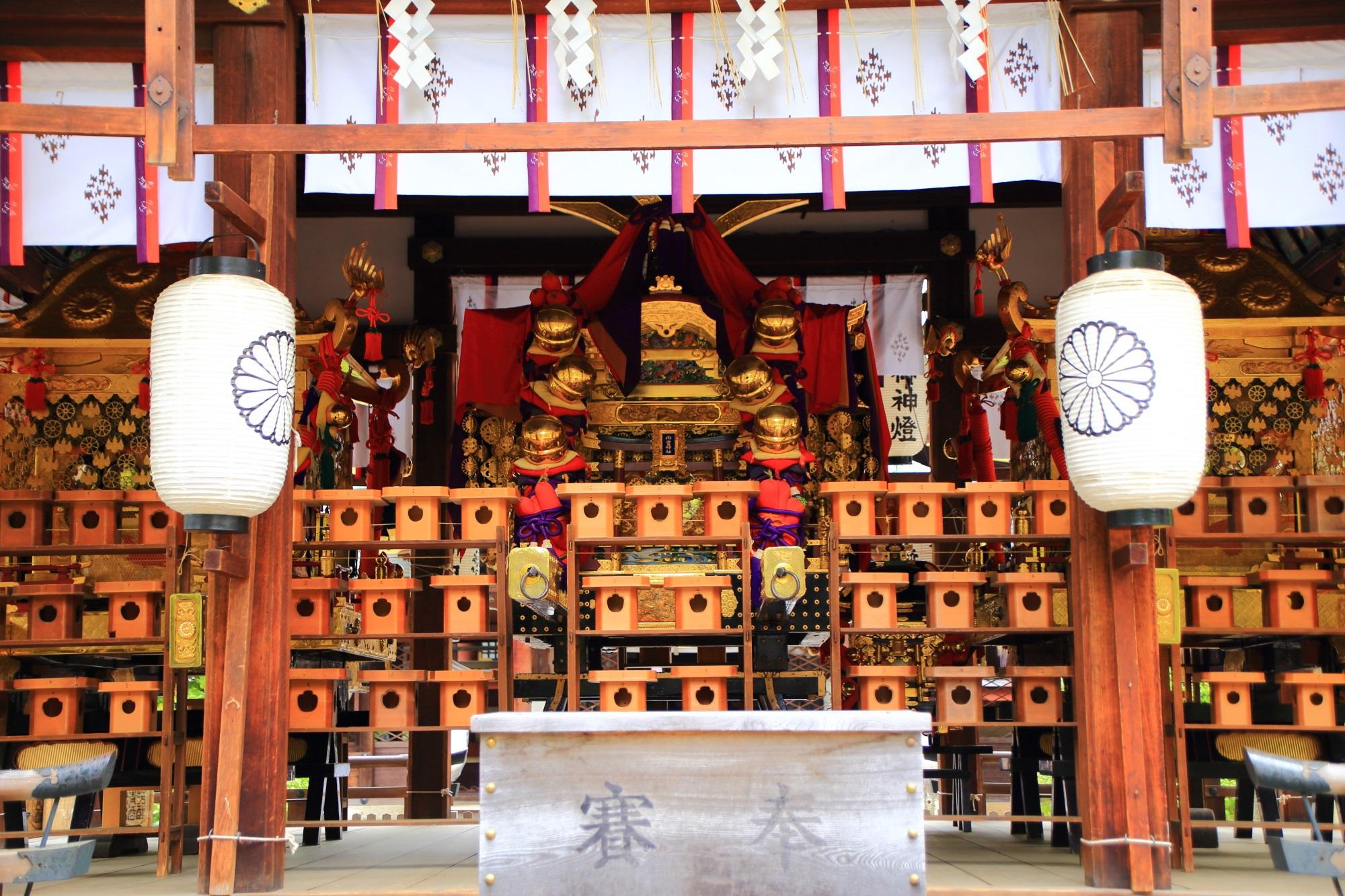 応仁の乱の勃発地として知られる上御霊神社の御霊祭の御神輿