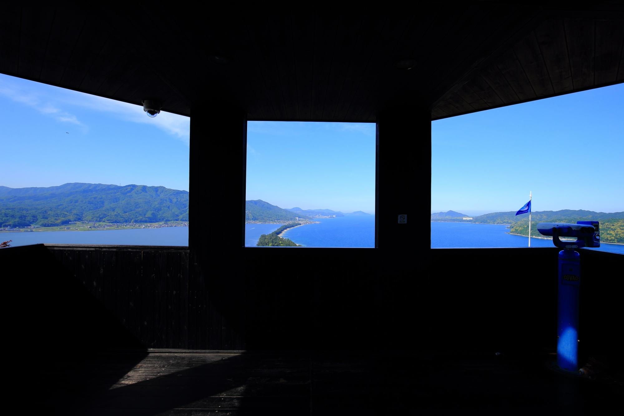 天橋立ビューランドのいくつか設けられている展望スポット
