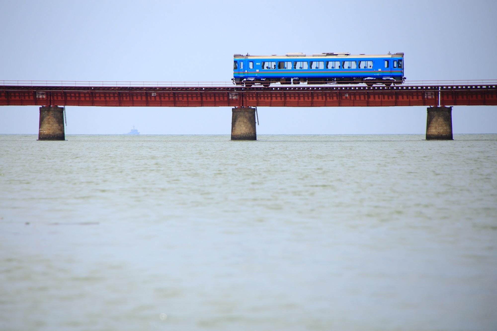 由良川橋梁 写真 高画質 丹後鉄道