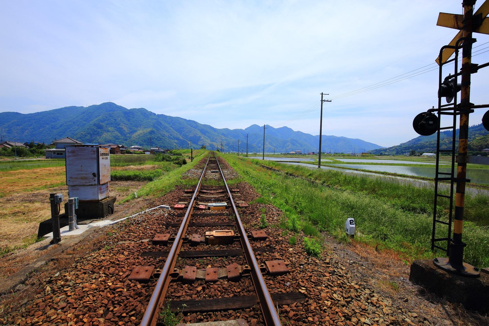 丹後鉄道の単線の線路