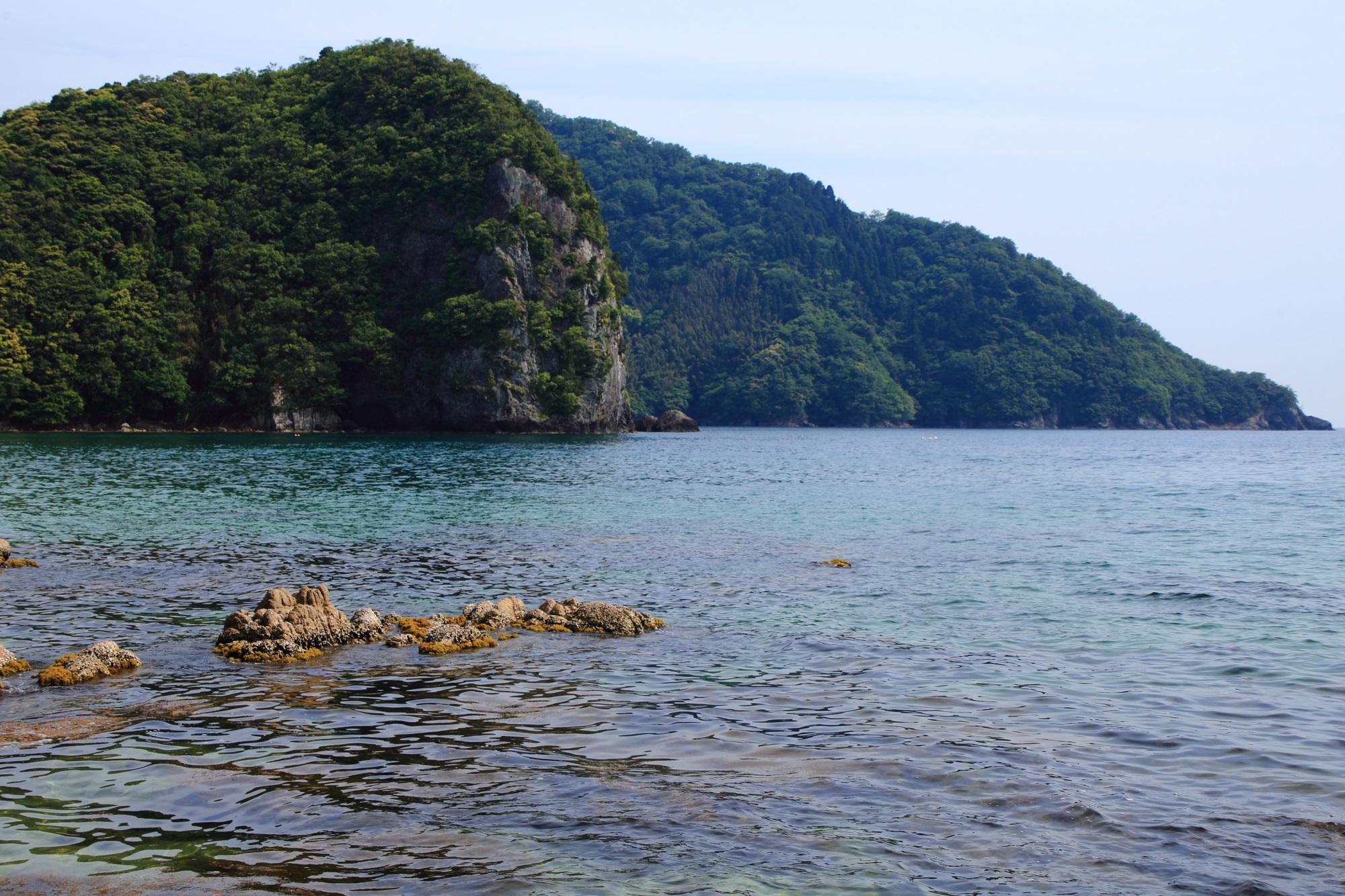 おっぱま海岸の見事な海