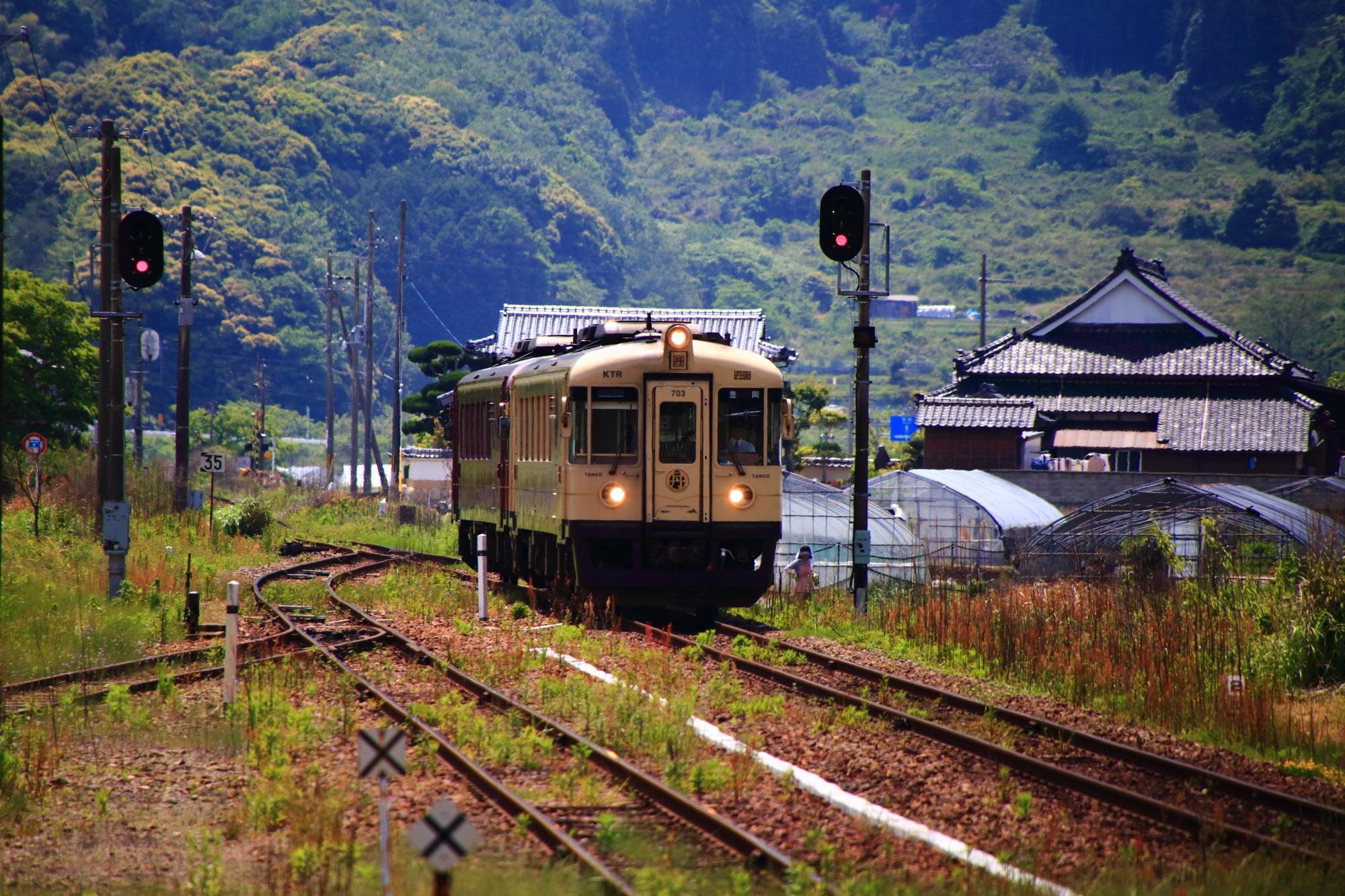 栗田駅での京都丹後鉄道