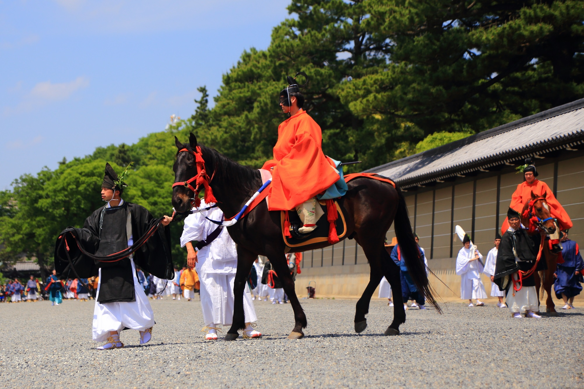 葵祭の衣装と馬