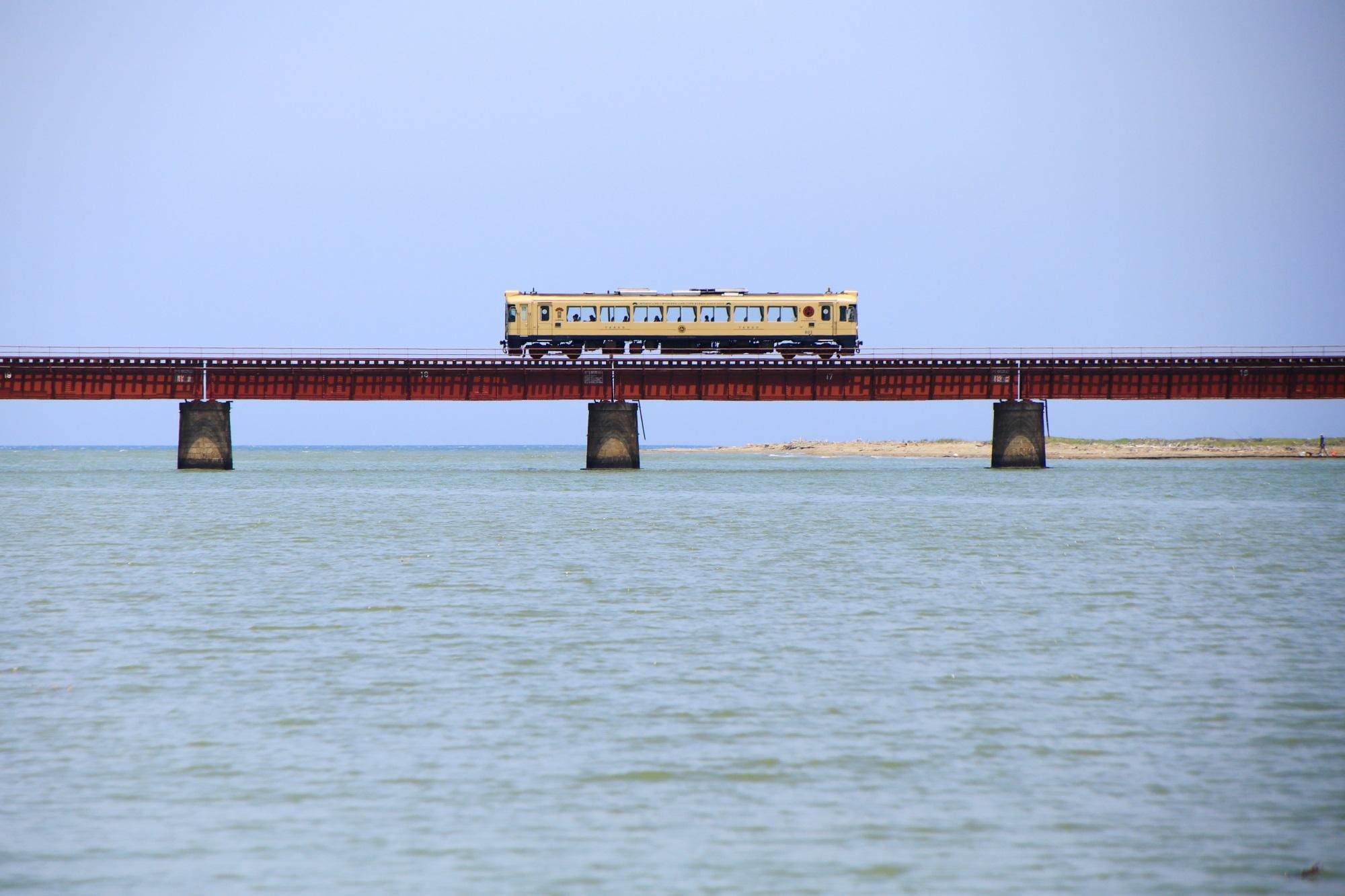高画質 由良川橋梁 写真 丹後鉄道