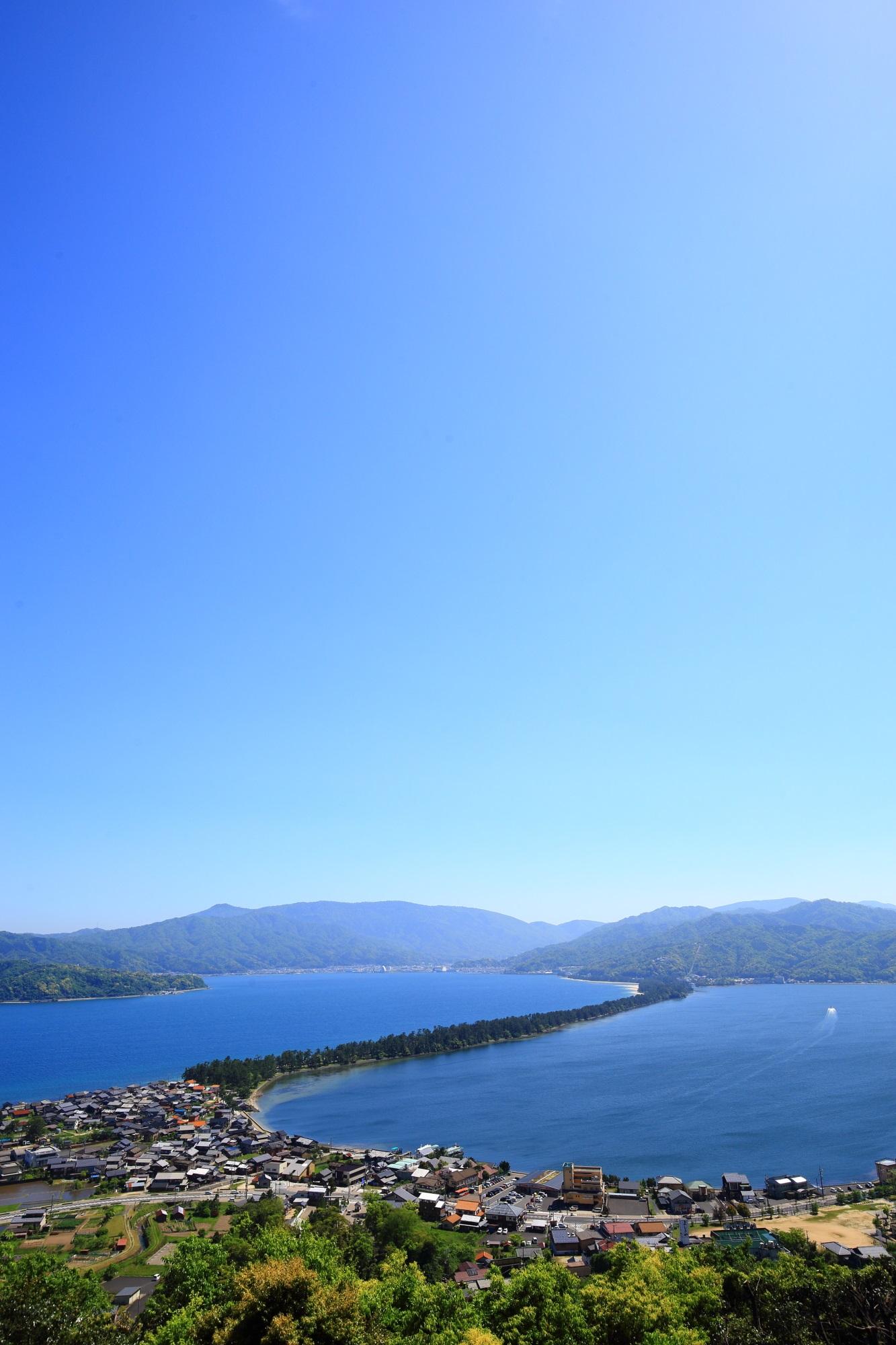 天橋立の素晴らしい昇龍観と海の情景
