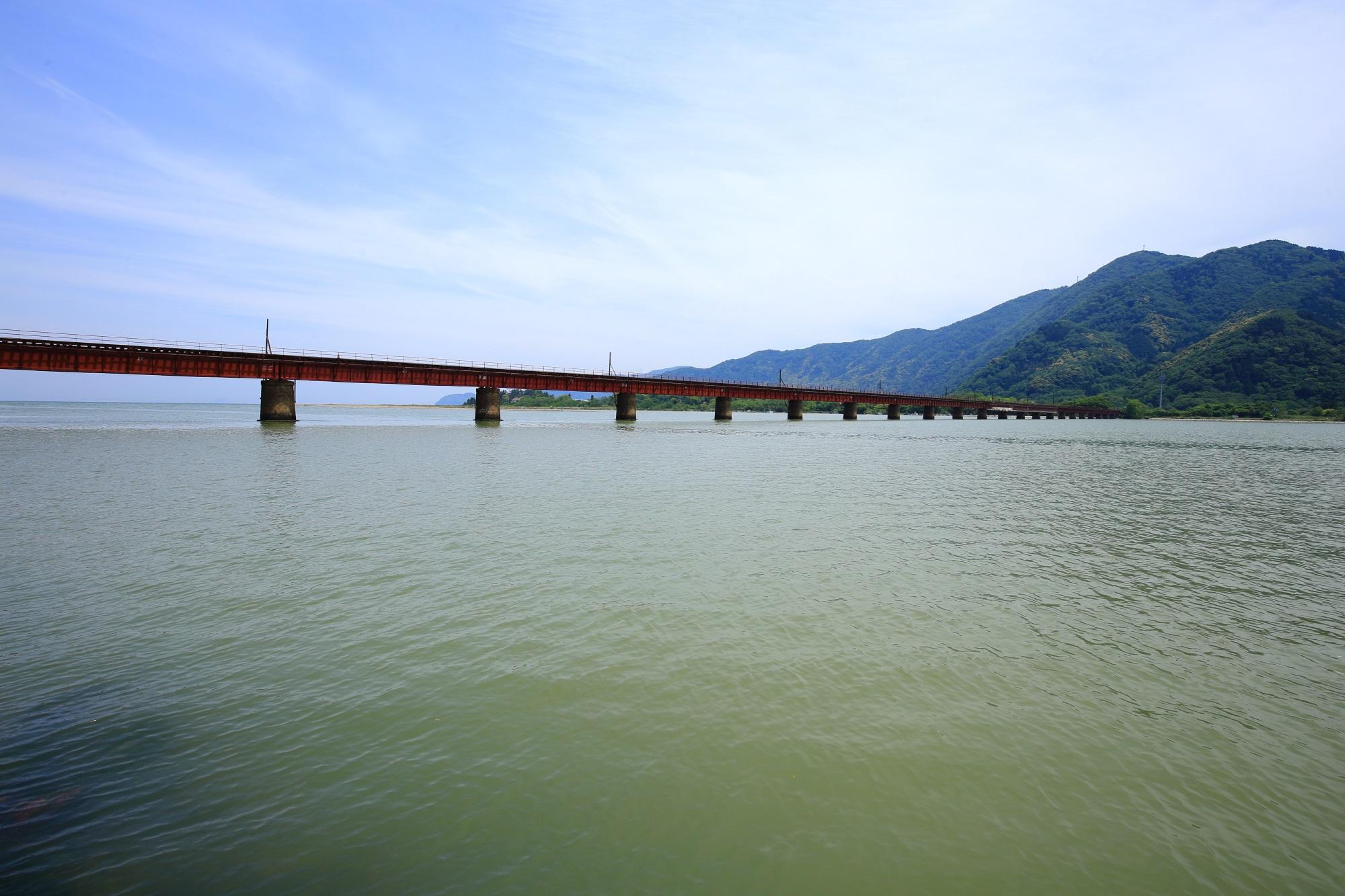由良川橋梁 丹後鉄道 海