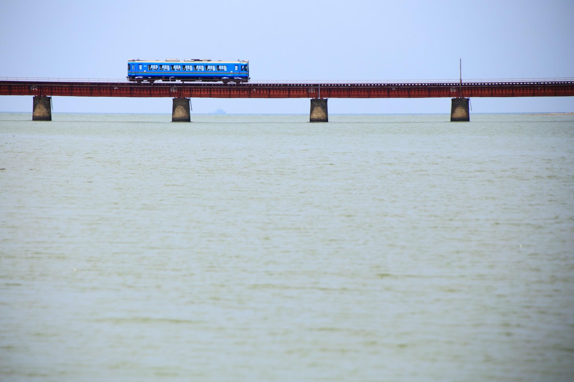 海 由良川橋梁 丹後鉄道