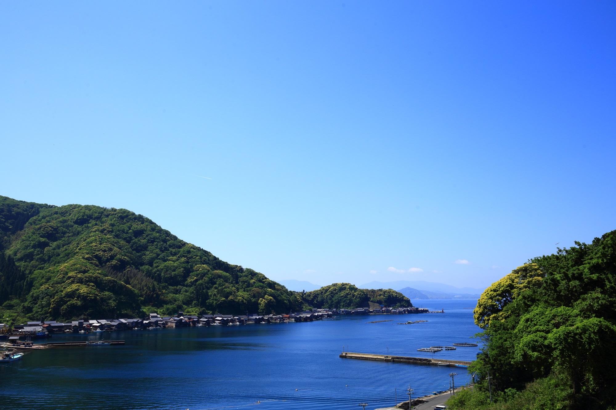 丹後海陸交通バスで行く京都府与謝郡伊根町の舟屋の里公園