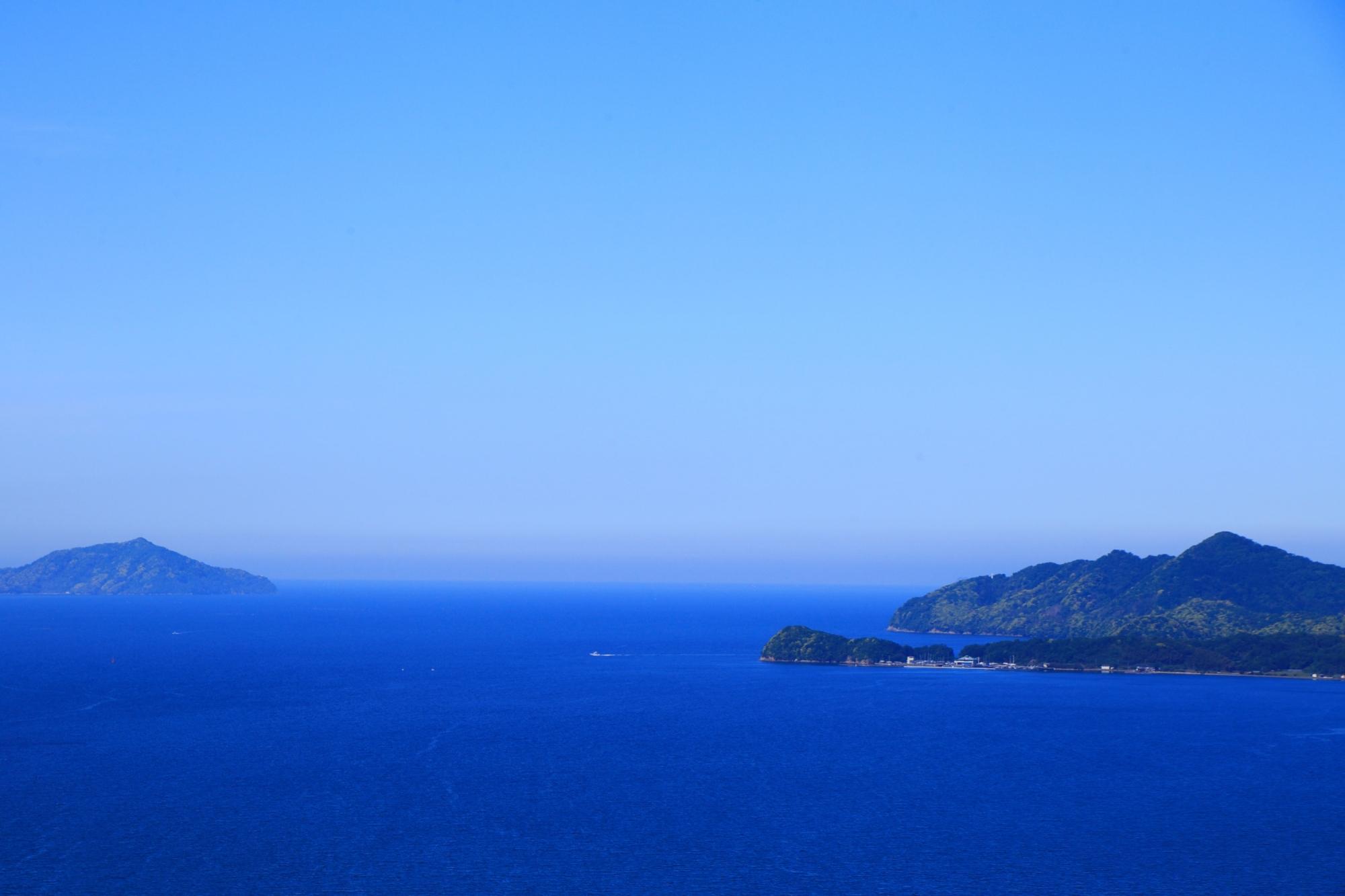 天橋立ビューランドから眺める若狭湾や日本海