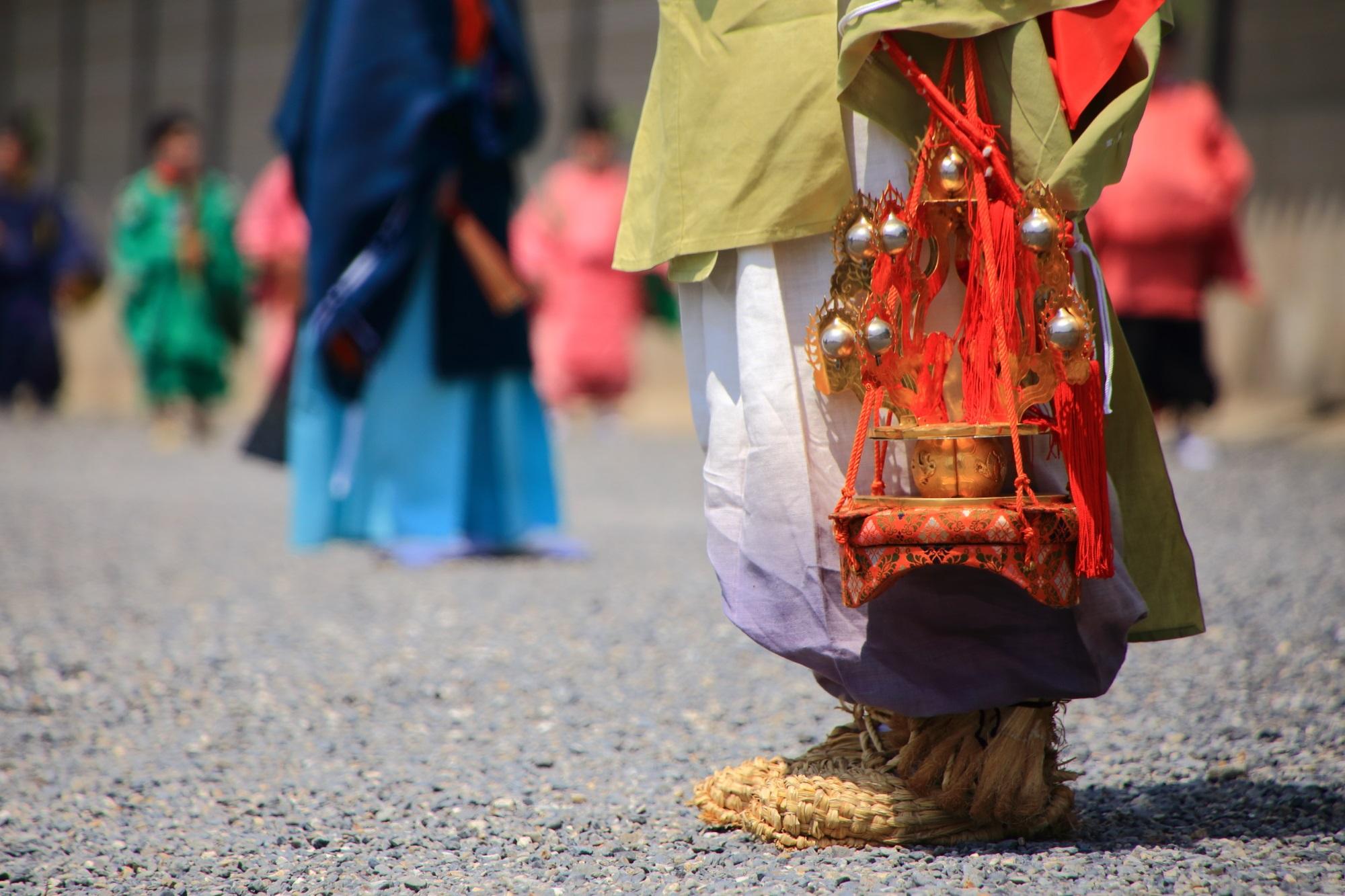 葵祭の行列の衣装