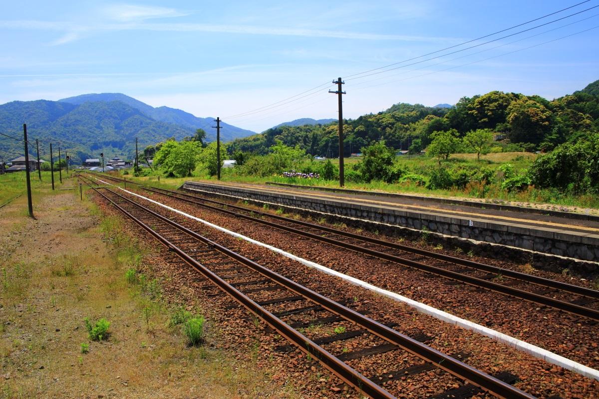 丹後鉄道 線路 田舎 自然