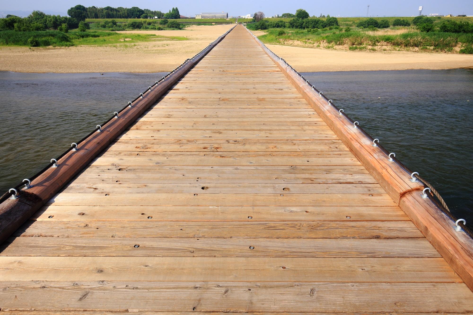 高画質 流れ橋 写真 上津屋橋