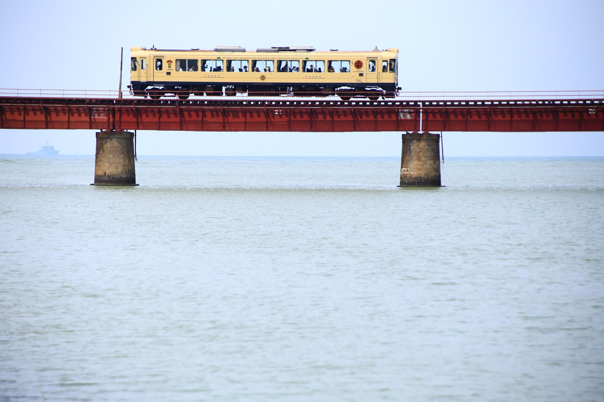 Kyoto Yuragawa-river-bridge Kyoto Tango Railway