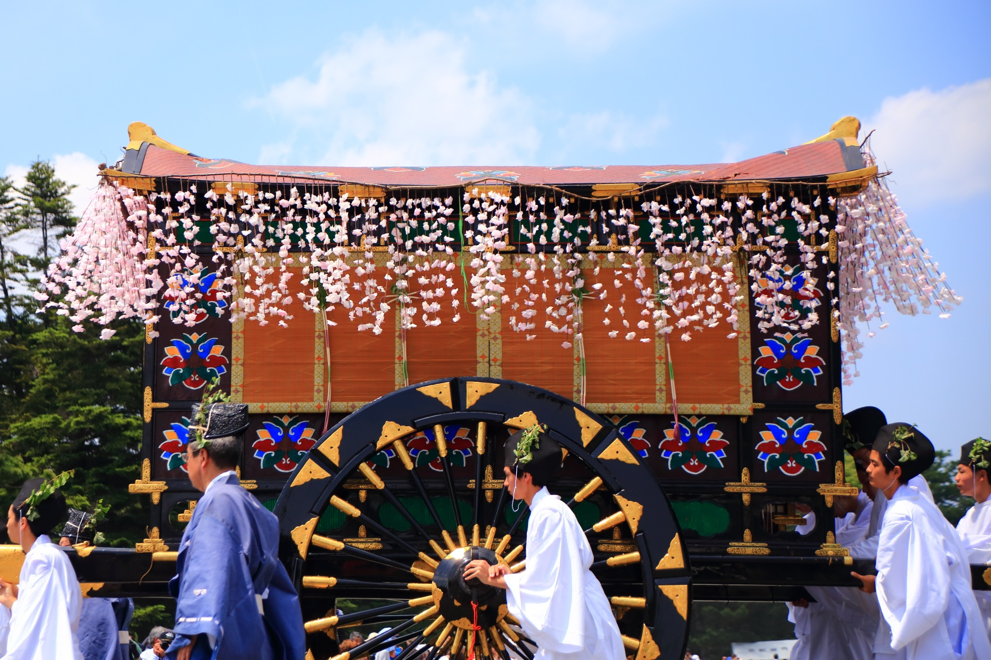 装飾 牛車 葵祭