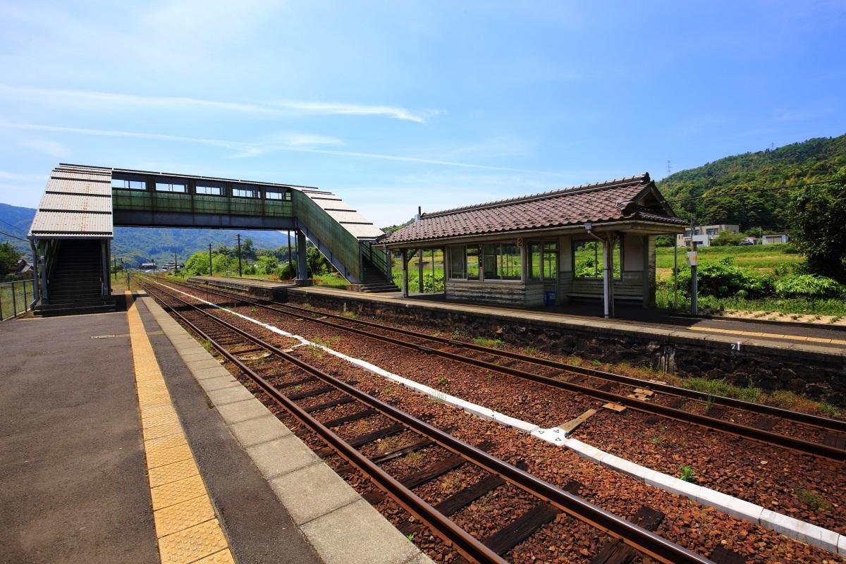 京都丹後鉄道の栗田(くんだ)駅