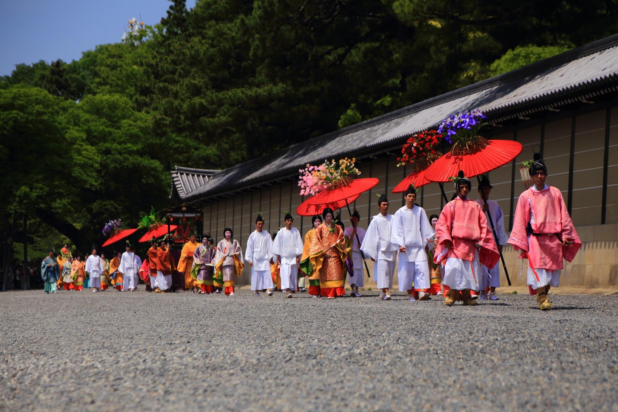 葵祭(あおいまつり)の華やかな斎王代列