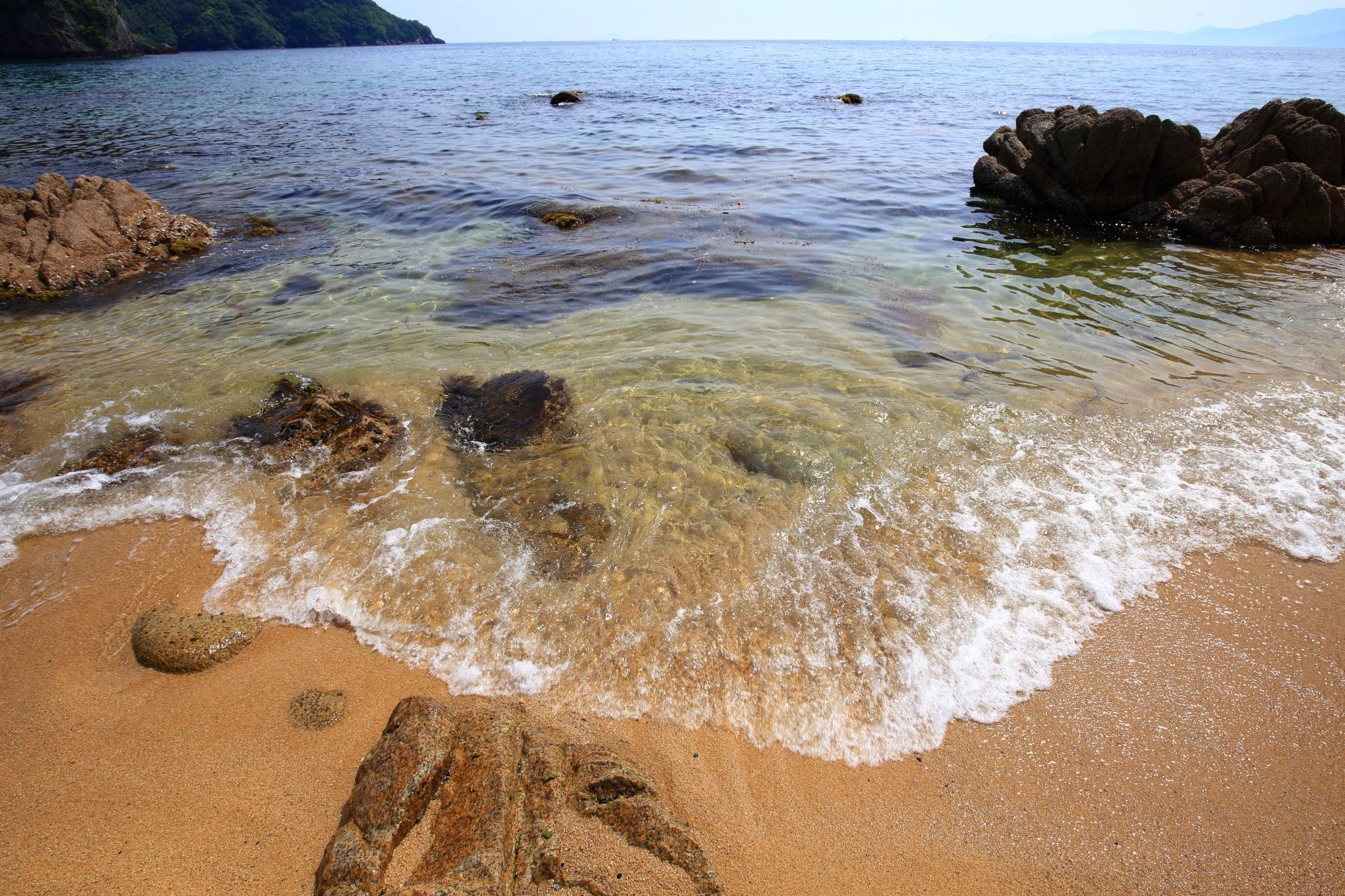 宮津の美しいおっぱま海岸