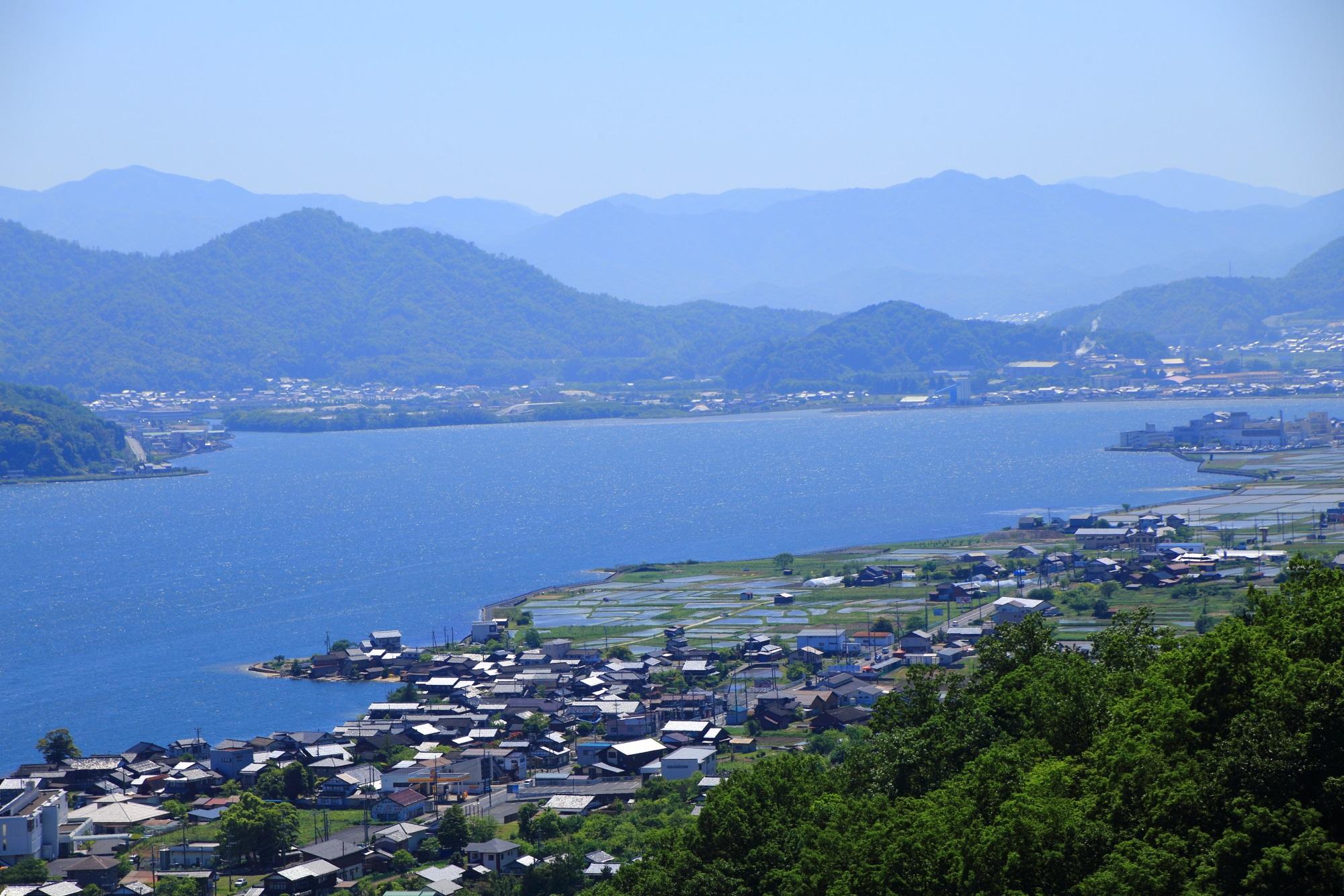 天橋立傘松公園からの眺める阿蘇海