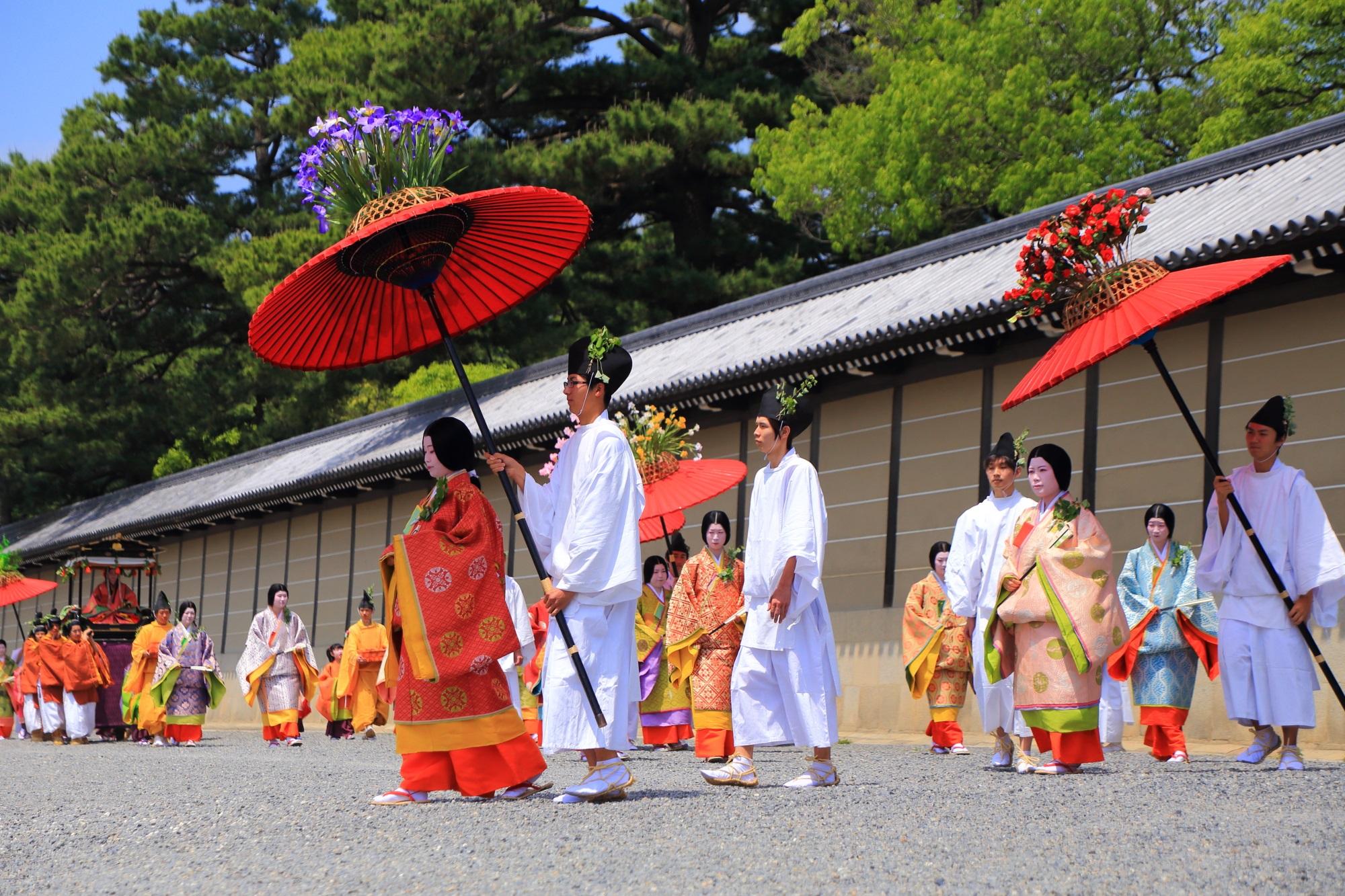 葵祭の平安貴族の行列