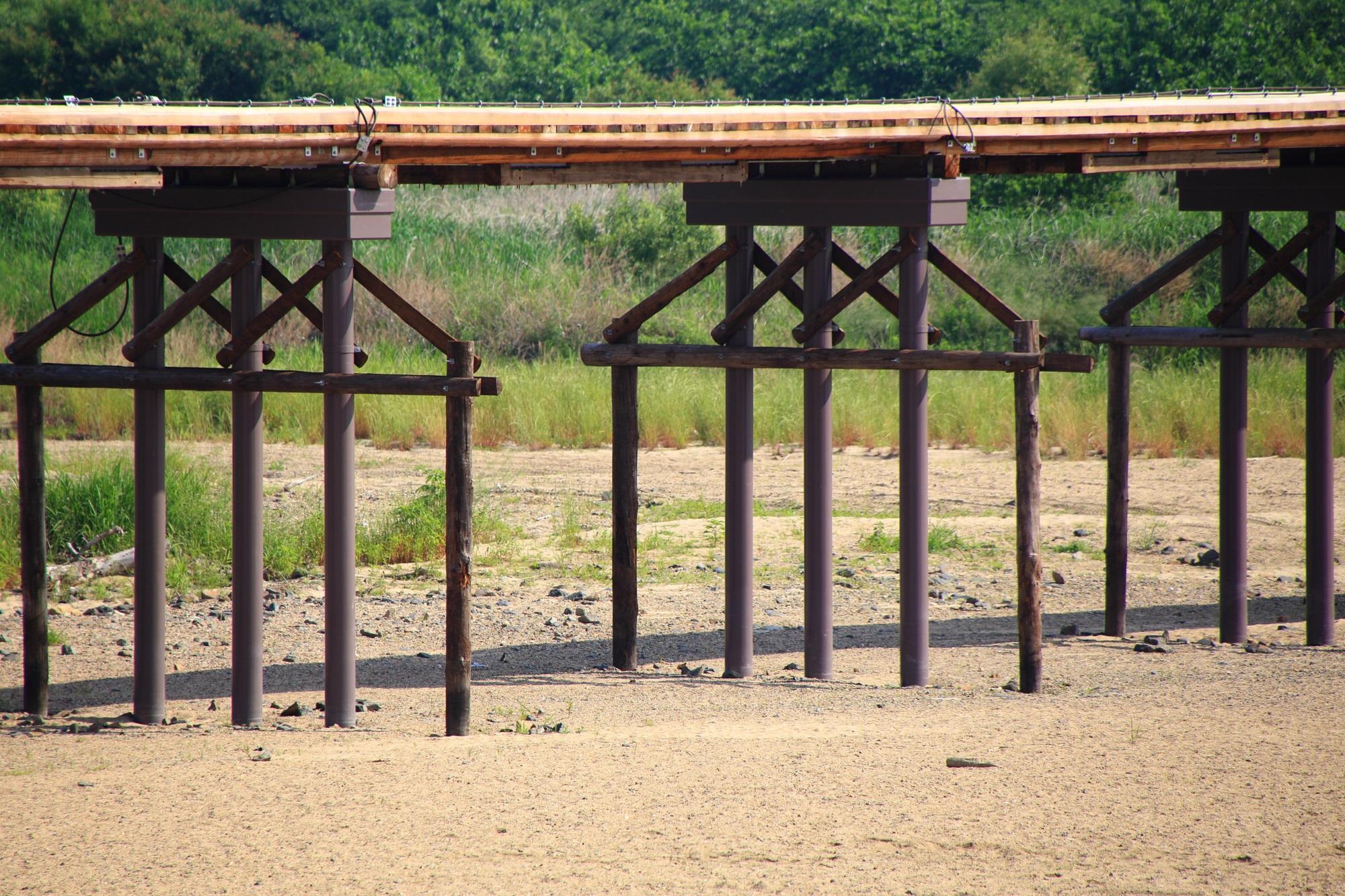 こうづやばし 木津川 流れ橋