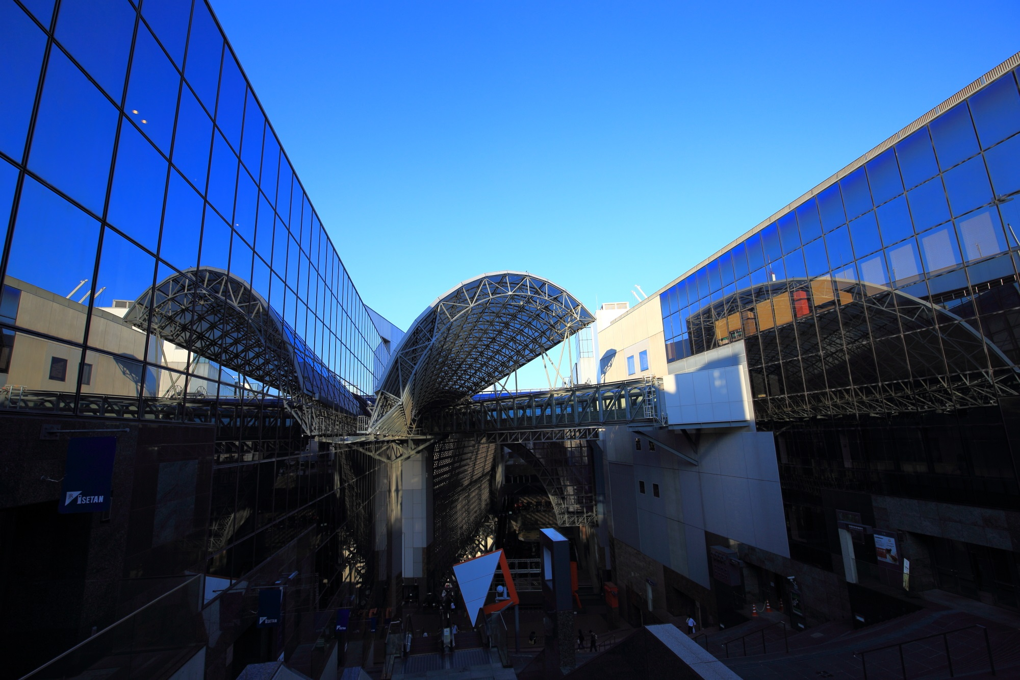 Kyoto Station Building and blue sky in Kyoto Japan