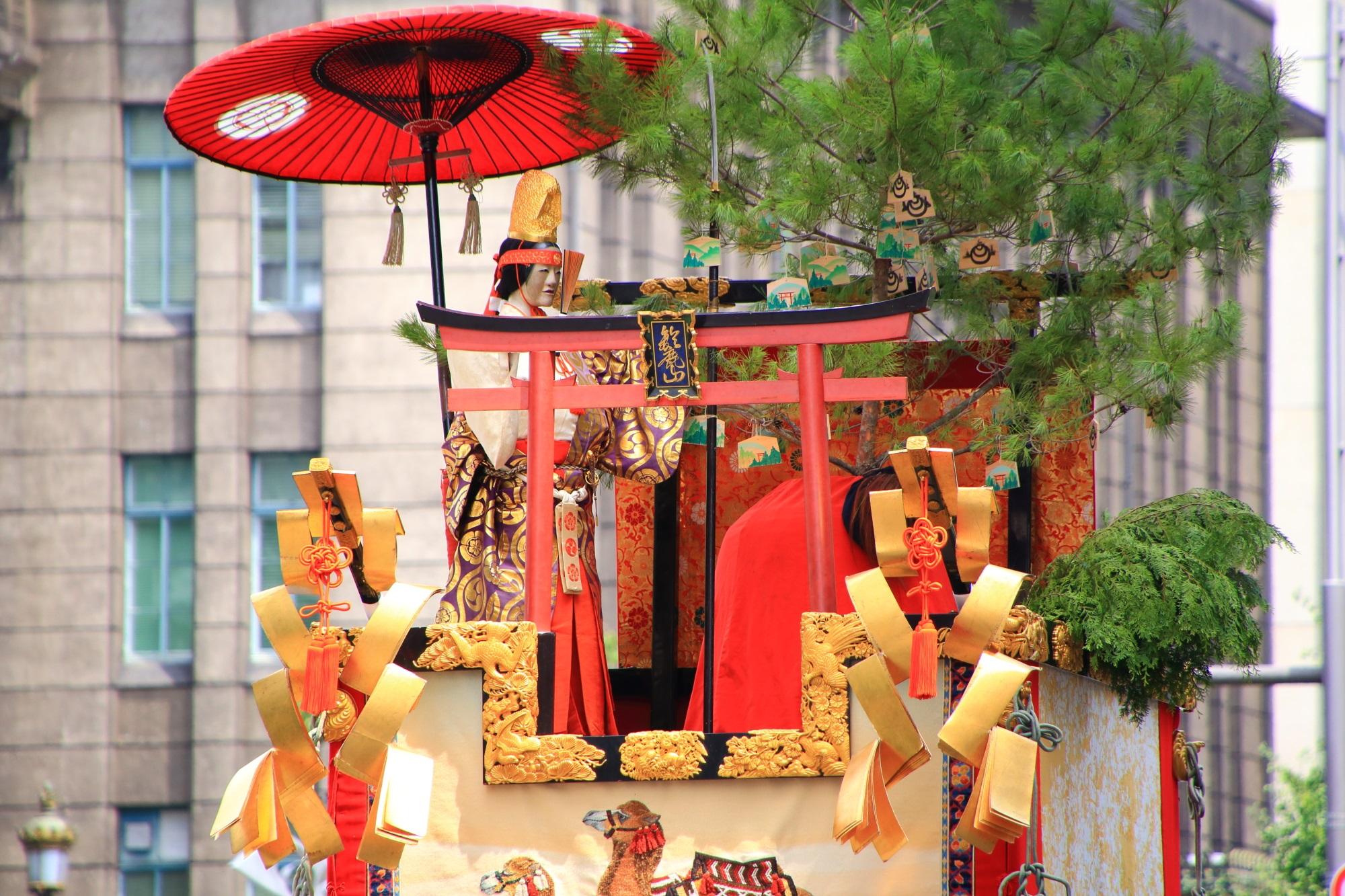 京都三大祭の祇園祭後祭の山鉾巡行の鈴鹿山