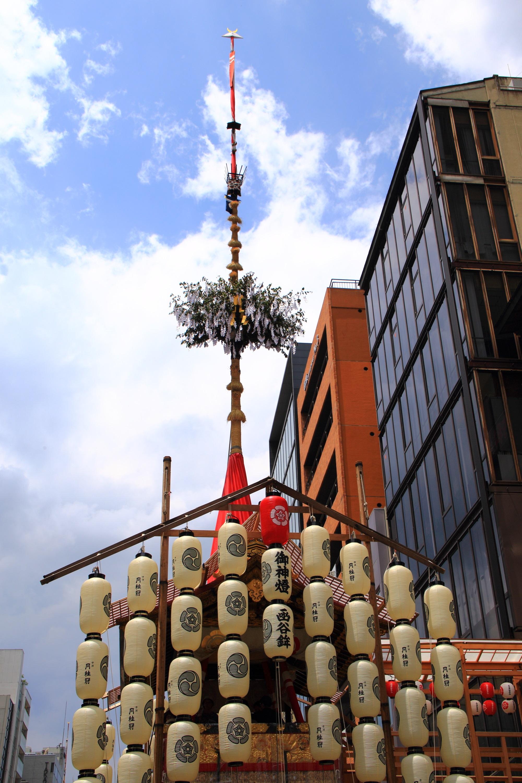 夏の風物詩の祇園祭の函谷鉾