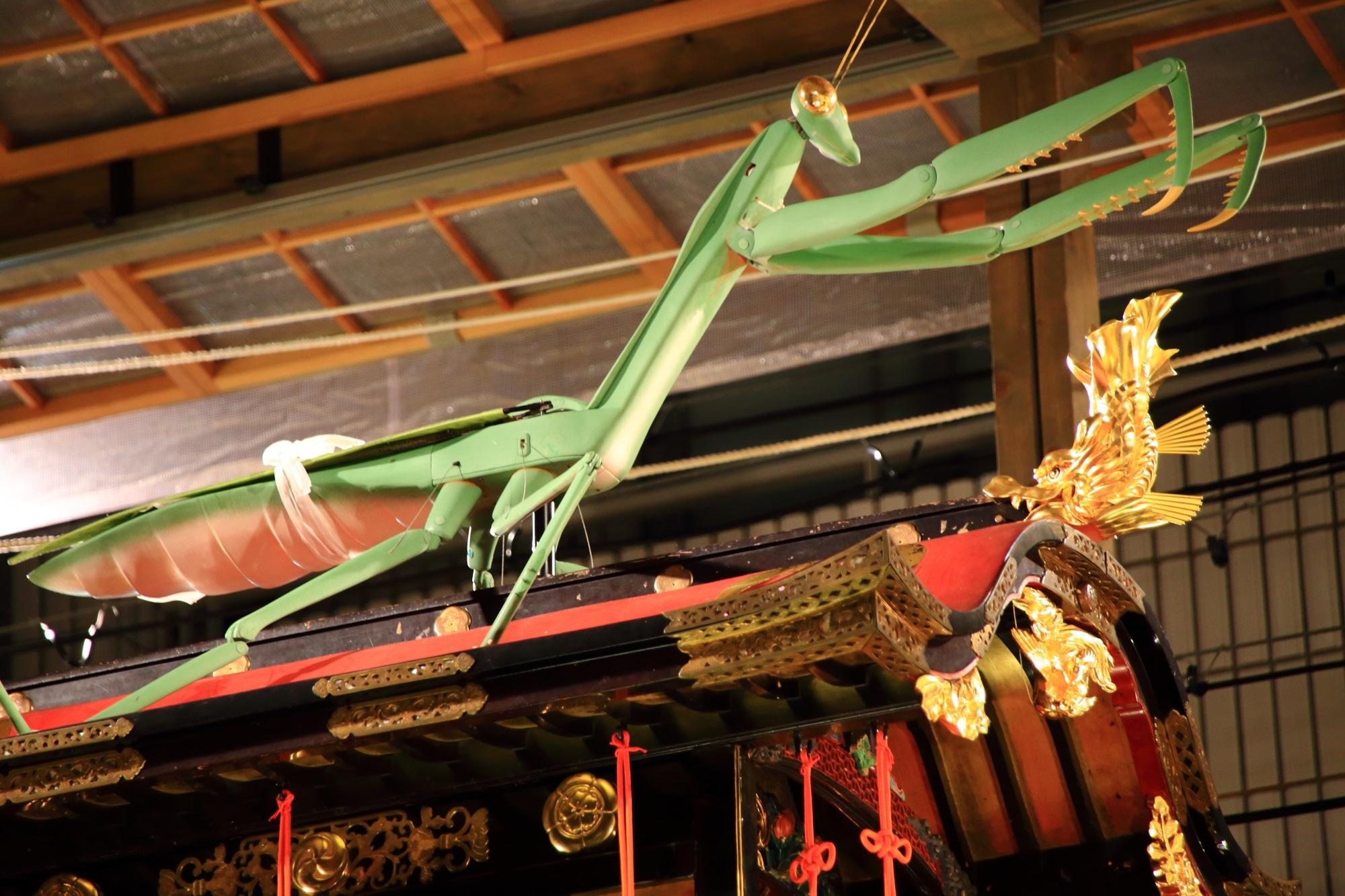 カマキリ 祇園祭 宵山 人気 蟷螂山