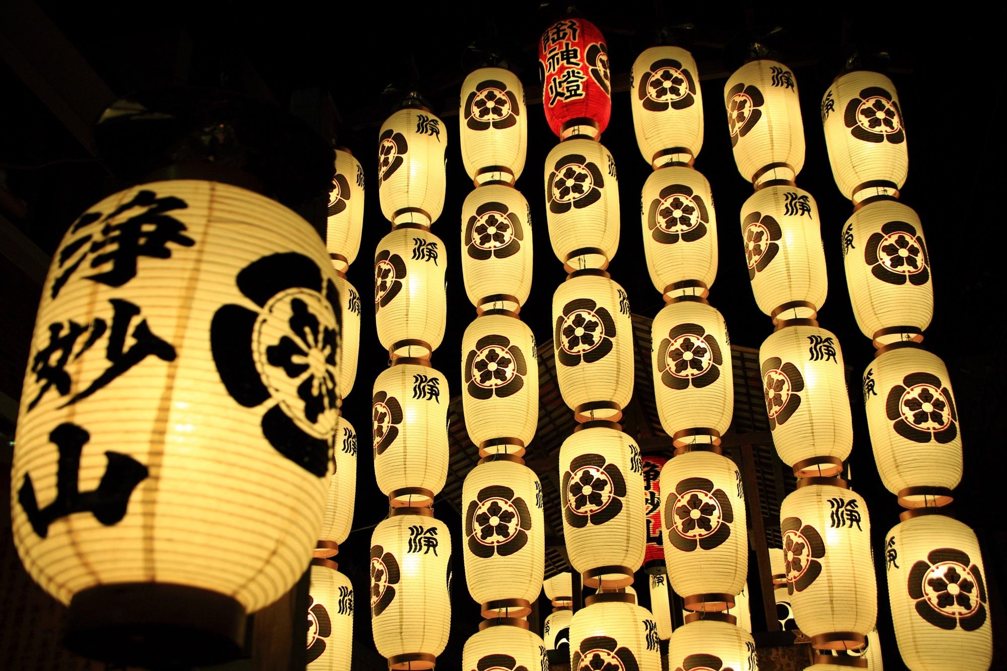 浄妙山 祇園祭後祭 宵山 駒形提灯