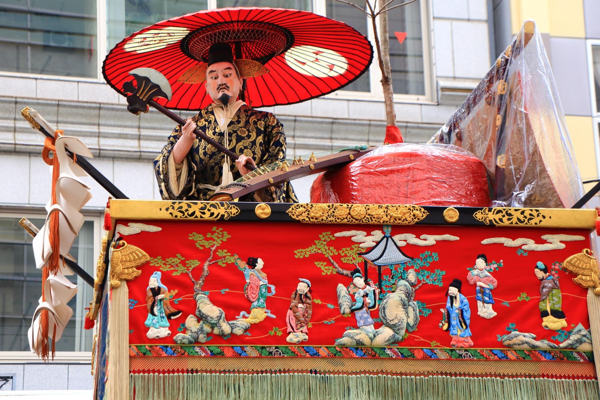 祇園祭の山鉾巡行の伯牙山