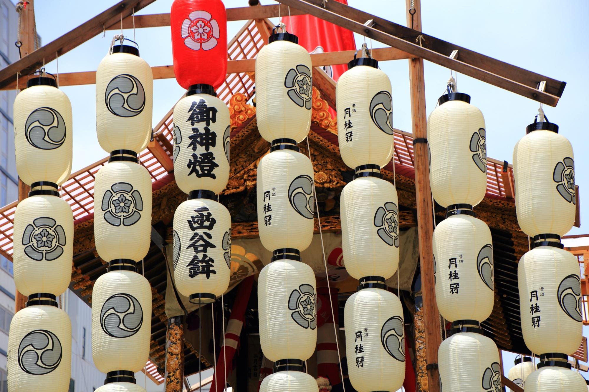 函谷鉾 駒形提灯 祇園祭 夏