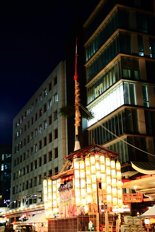 祇園祭の宵山の大きな長刀鉾