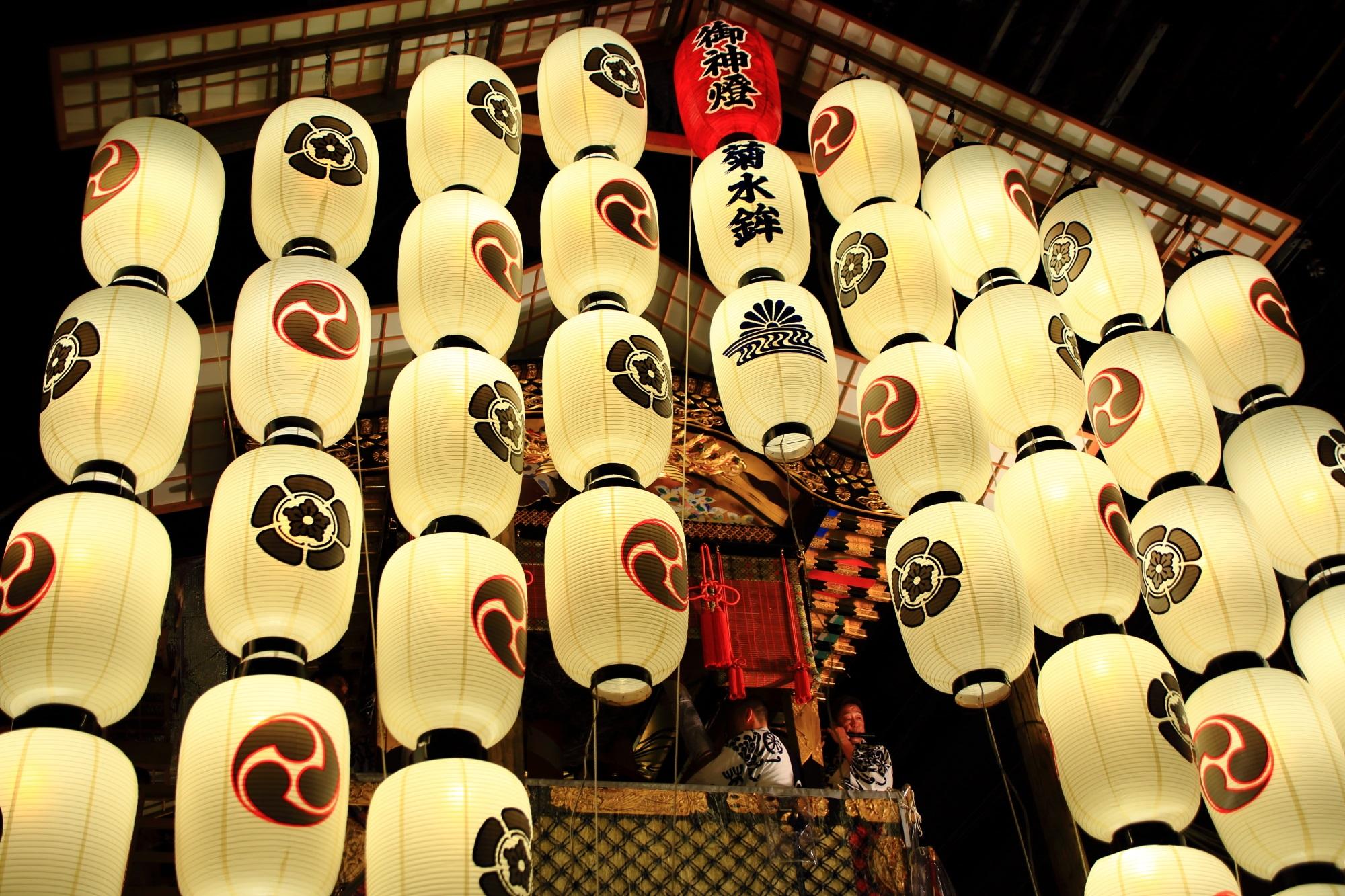 祇園祭の風情ある駒形提灯