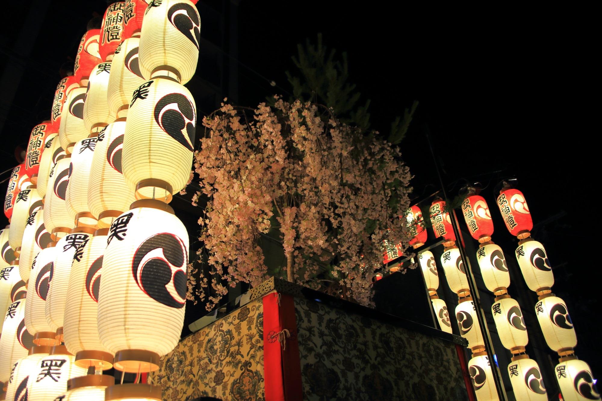 祇園祭後祭の宵山の黒主山