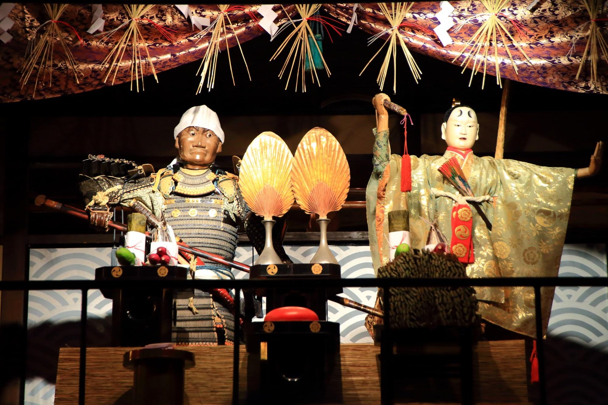 京都三大祭の祇園祭後祭の宵山の橋弁慶山