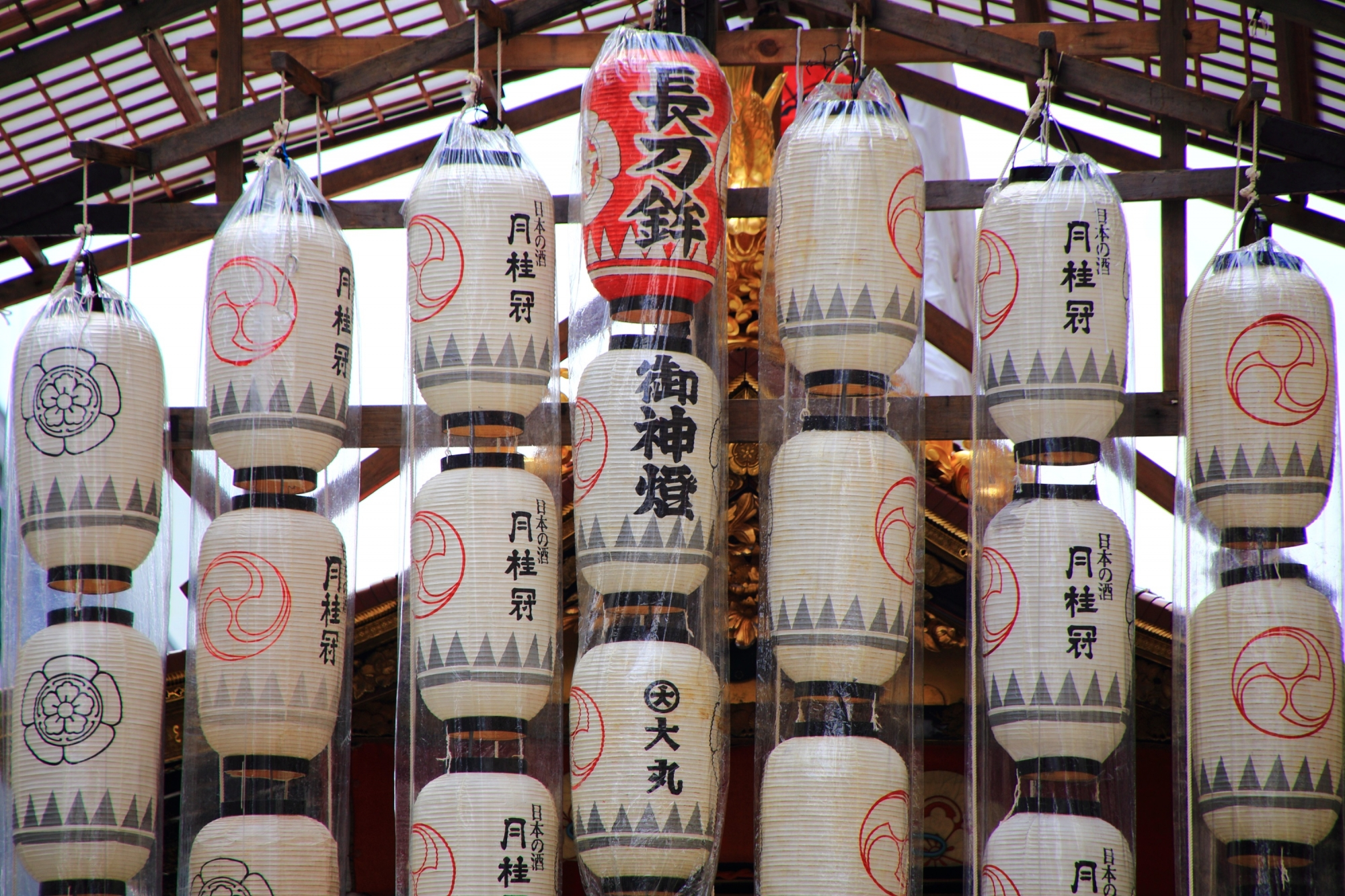 夏の風物詩の祇園祭の長刀鉾の駒形提灯