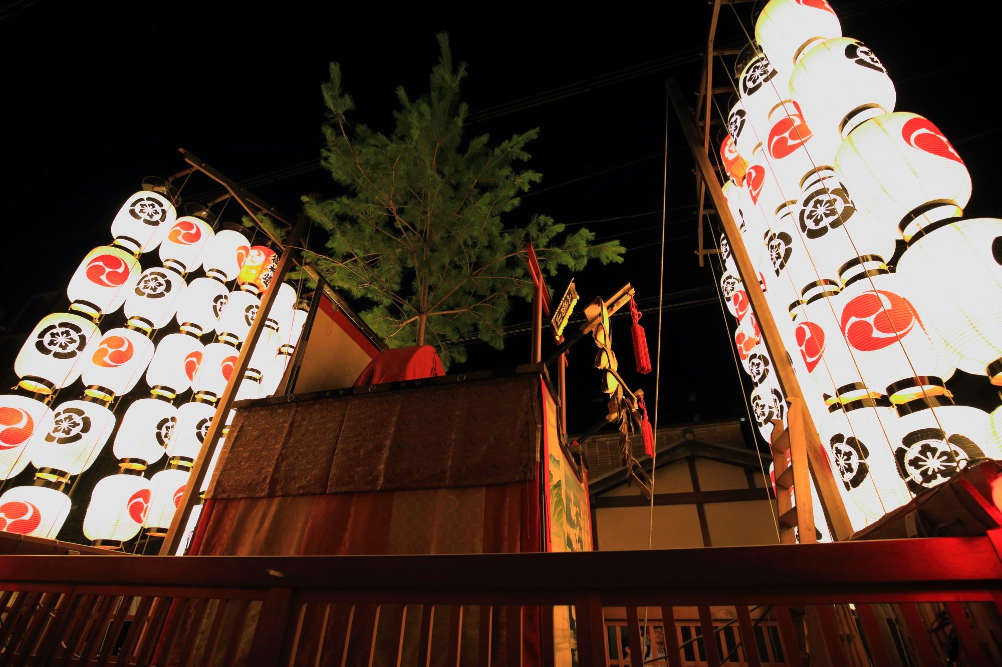 八幡山 宵山 駒形提灯 祇園祭 後祭 夏の風物詩